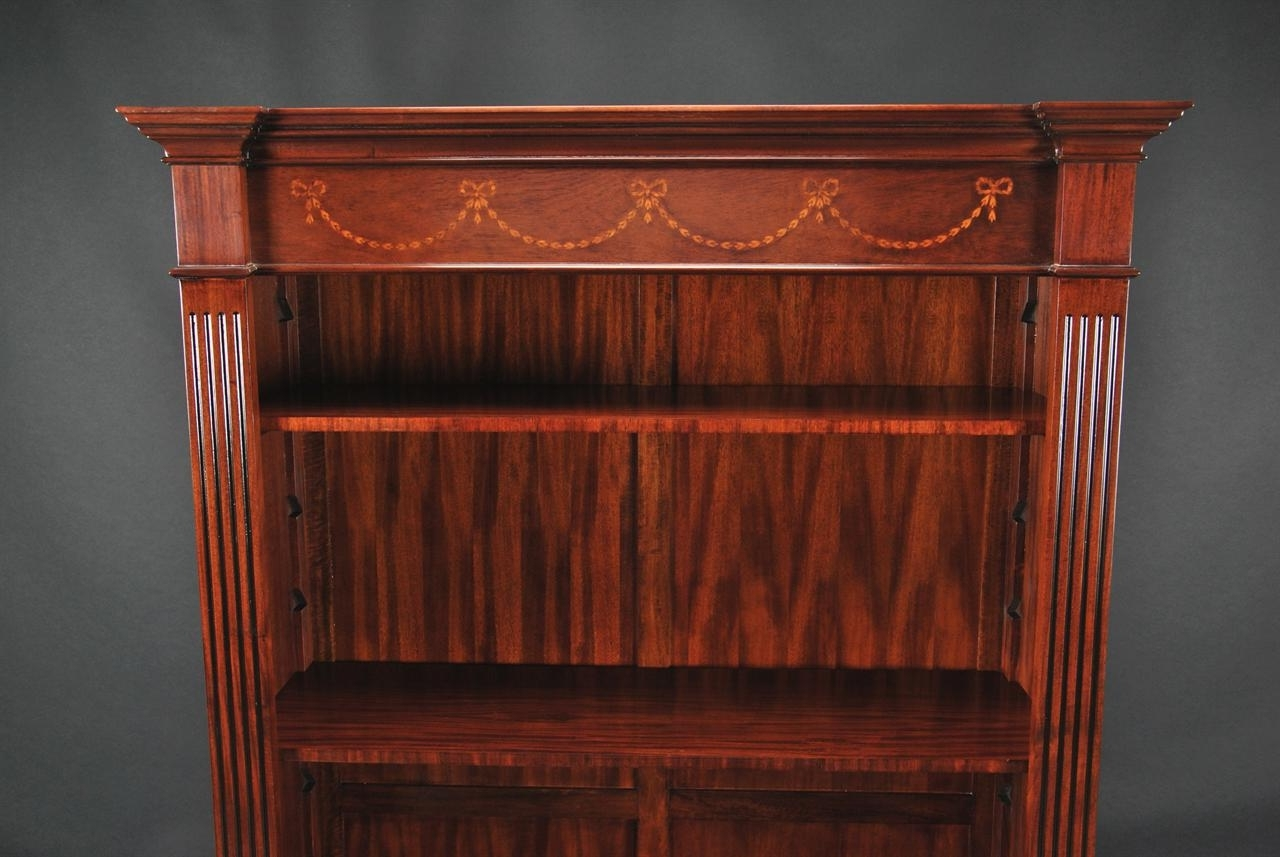 Popular Bookcases Ideas: Amazing Mahogany Bookcase For Livingroom Mahogany For Mahogany Bookcases (View 2 of 15)