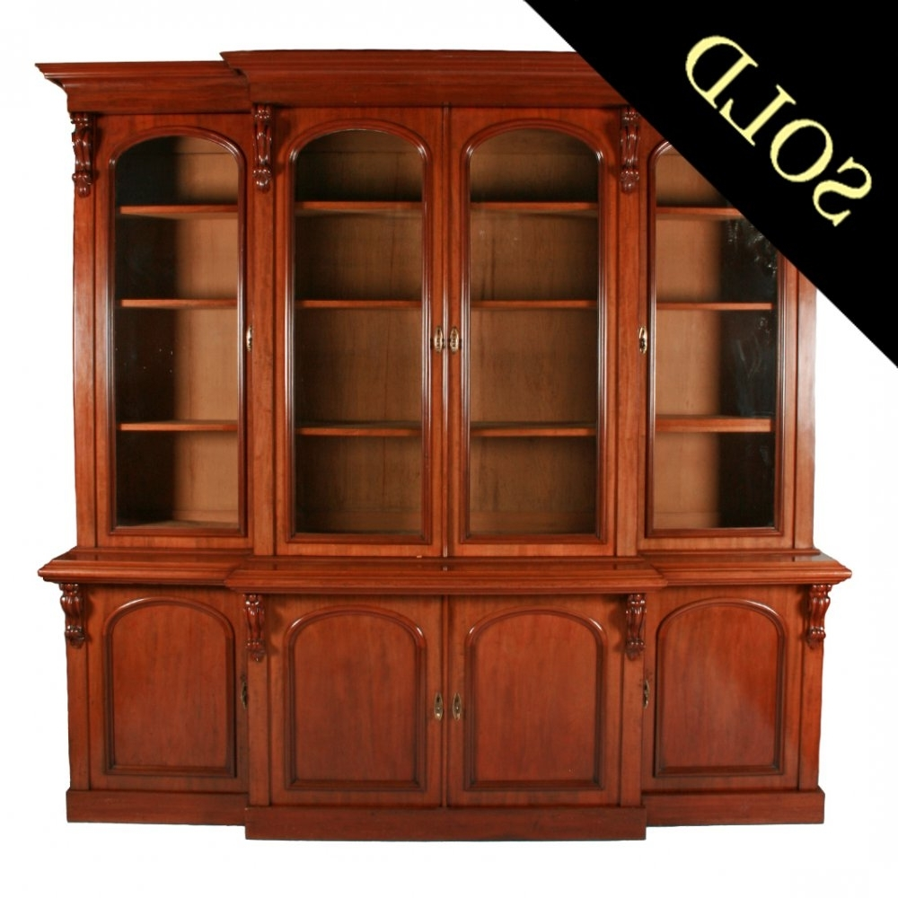 Popular Break Front Bookcases Inside Antique Victorian Bookcase (View 4 of 15)