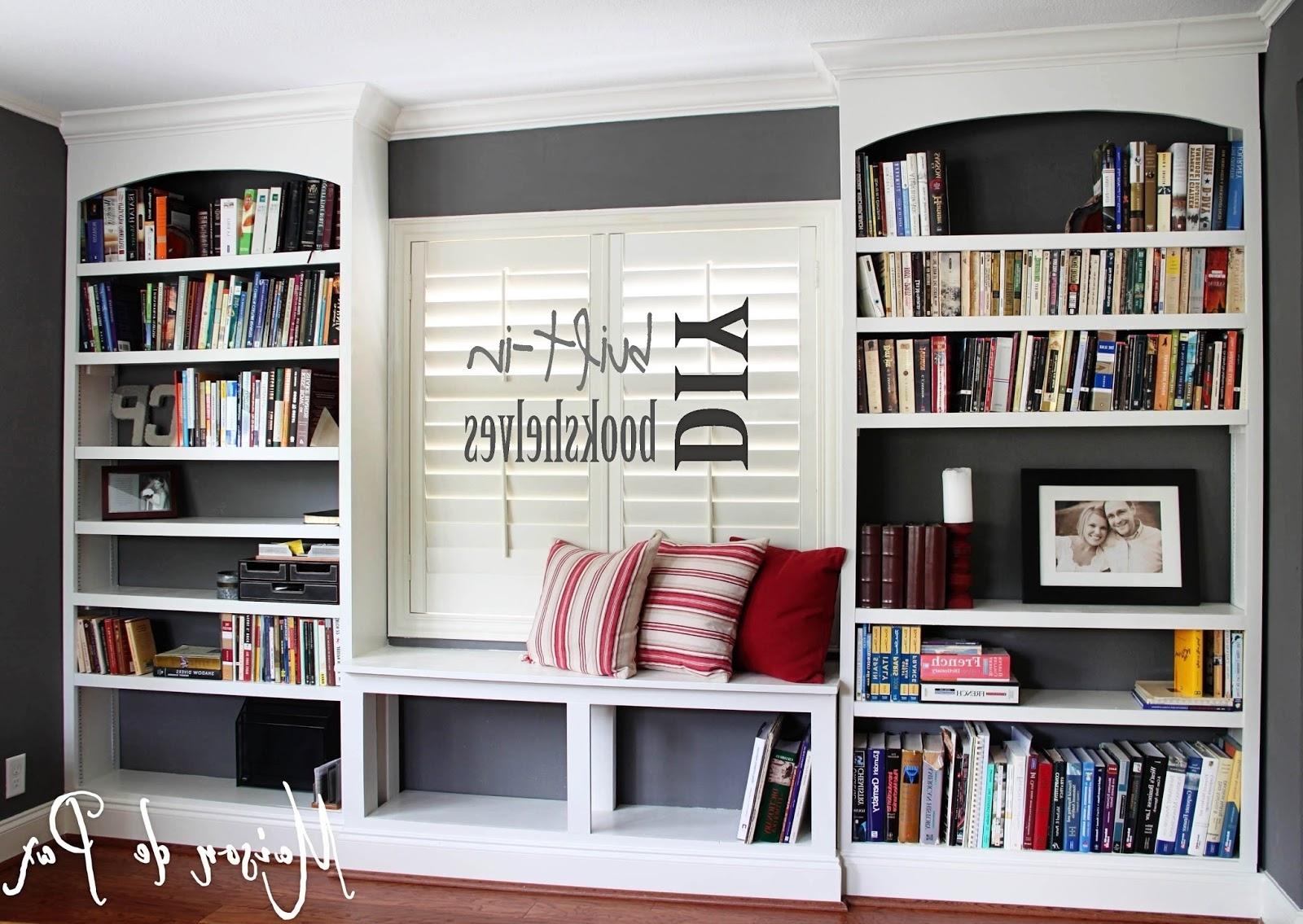 Popular Built In Bookshelves Kits Inside Diy Built In Bookshelves – Maison De Pax (View 9 of 15)