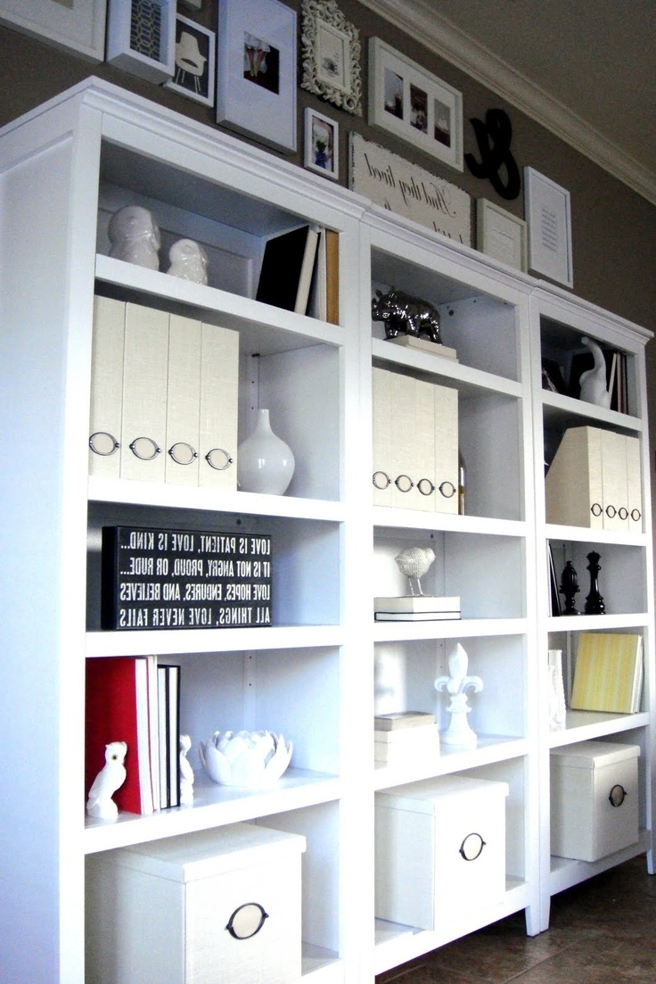 Popular Carson 5 Shelf Bookcases With Regard To Shelves + Gallery Wall = Awesome (View 10 of 15)