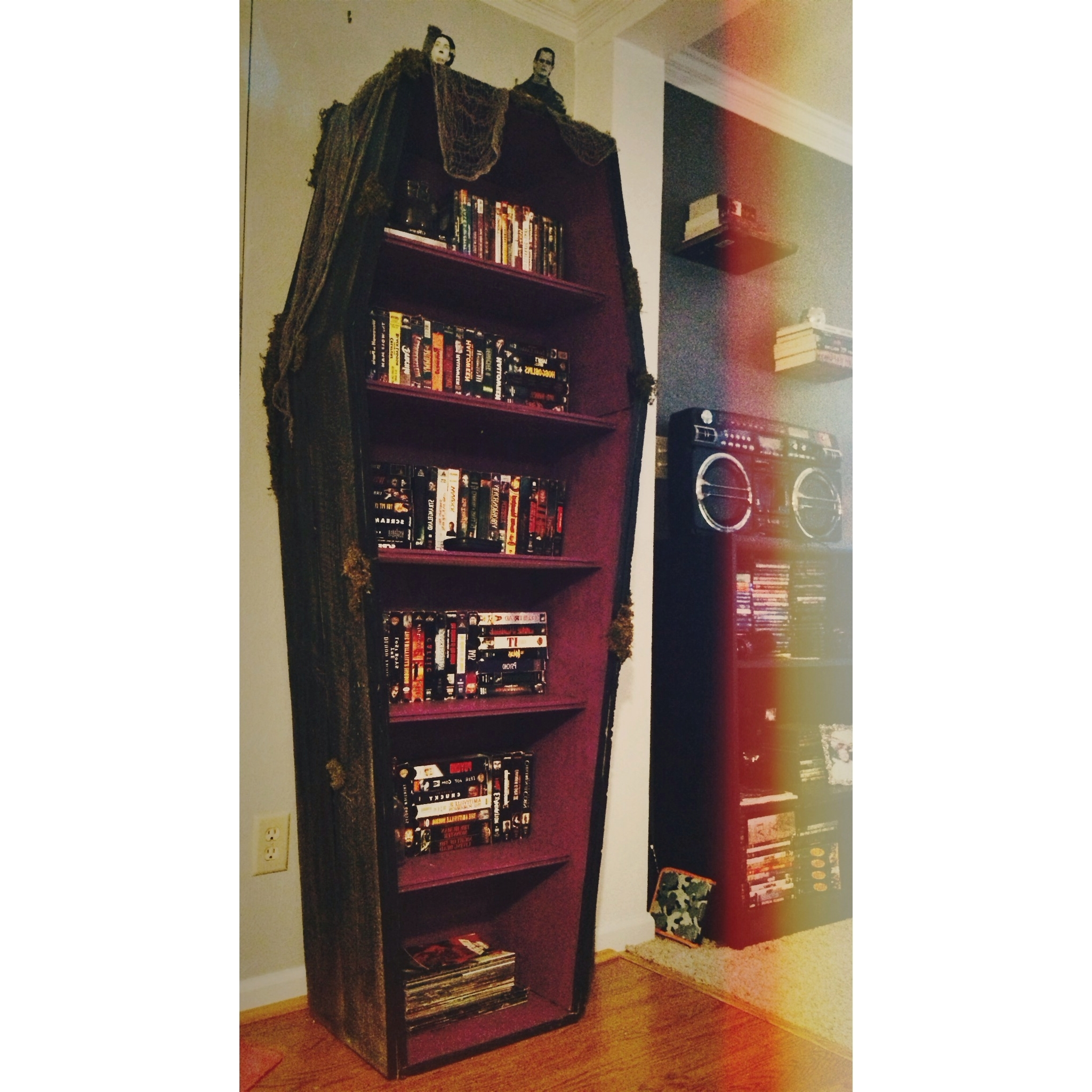Popular Coffin Bookcases Throughout My Coffin Bookshelf (View 14 of 15)