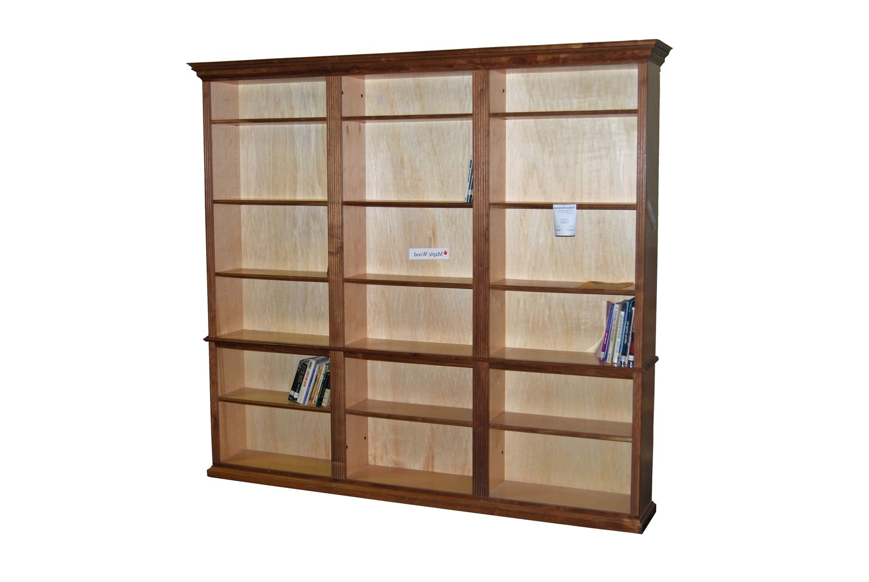 Popular Custom Made Walnut And Maple Bookcase Unitdurham Bookcases Within Maple Bookcases (View 12 of 15)
