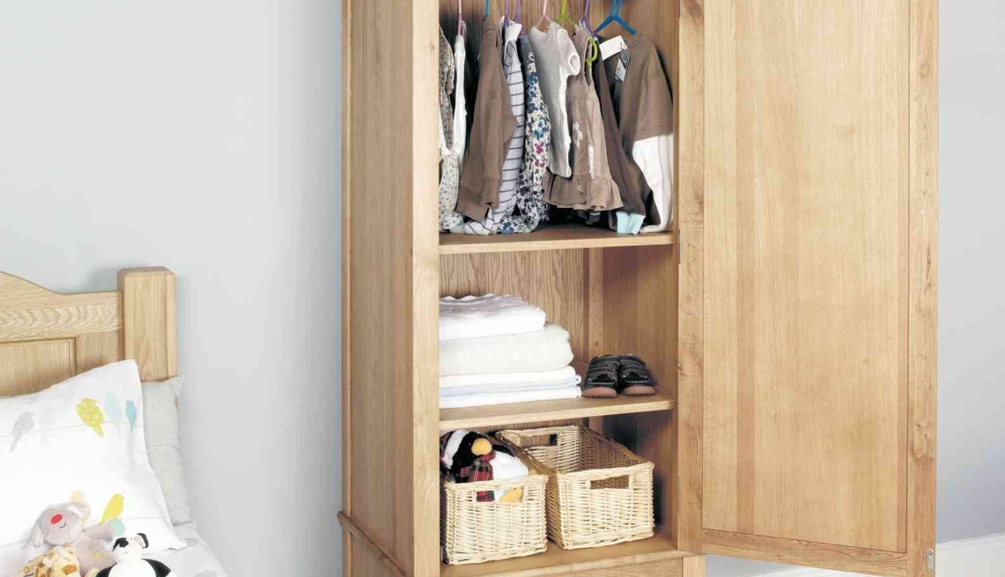 Popular Double Rail Wardrobes With Drawers Intended For Shelf : Wardrobe Hanging Rail Stunning Double Hanging Rail (View 11 of 15)