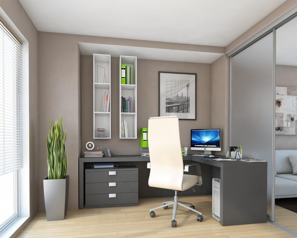 Popular Fitted Office Furniture With Regard To Special Fitted Home Office Furniture Design Ideas # (View 14 of 15)