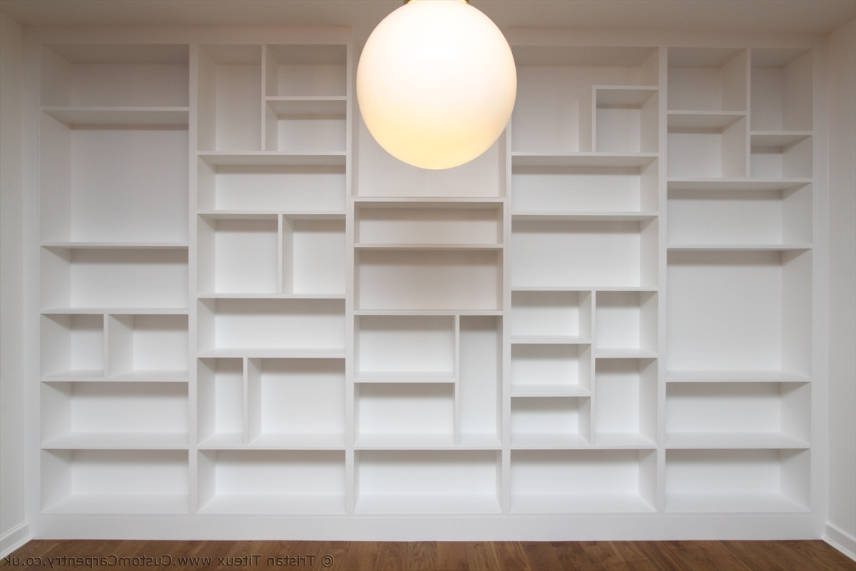 Popular Fitted Shelves Within Bespoke Fitted Bookcase With Random Shelves By Custom Carpentry  (View 12 of 15)