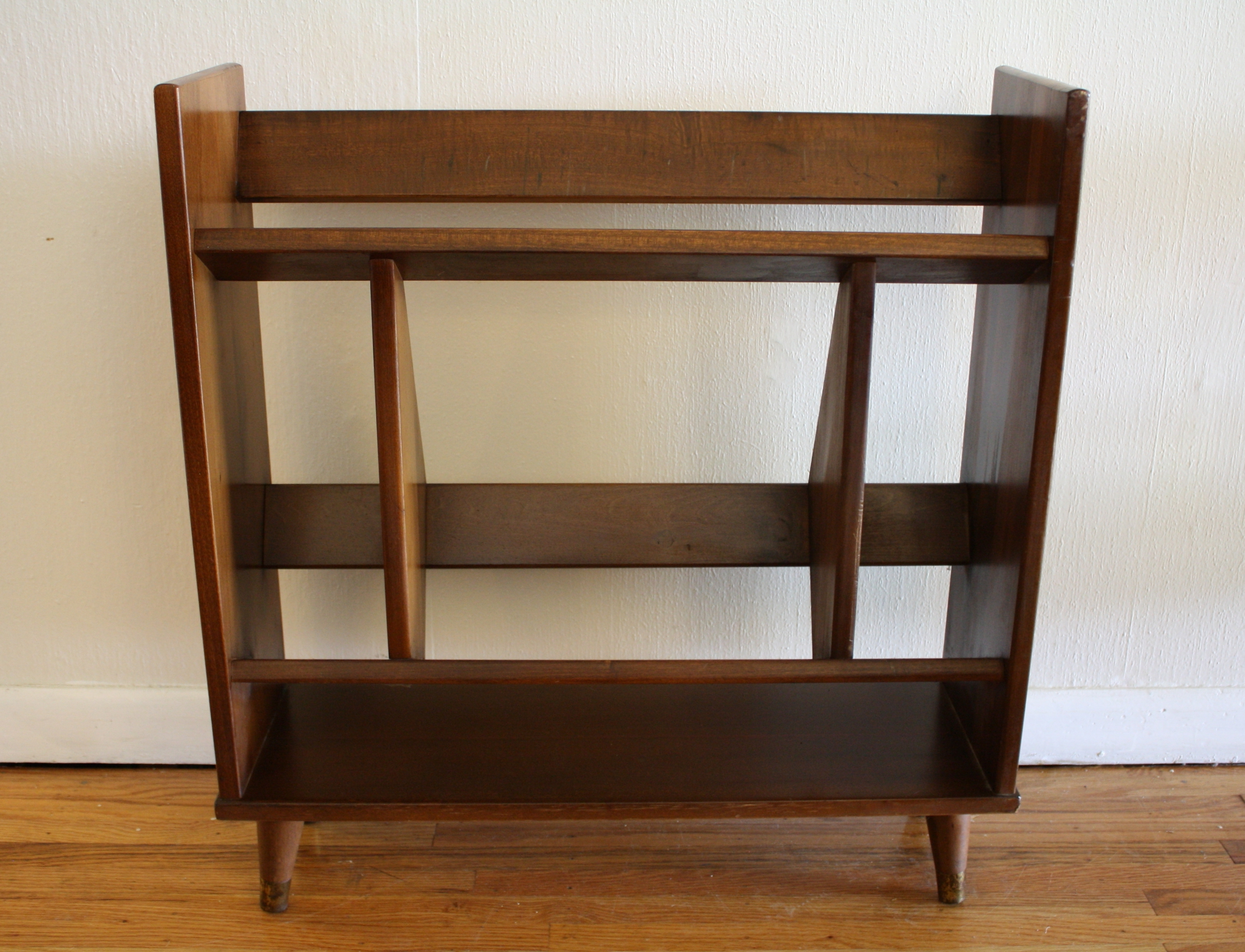 Popular Furniture: Mid Century Modern Bookcase Brown Finish For With Mid Century Modern Bookcases (View 14 of 15)