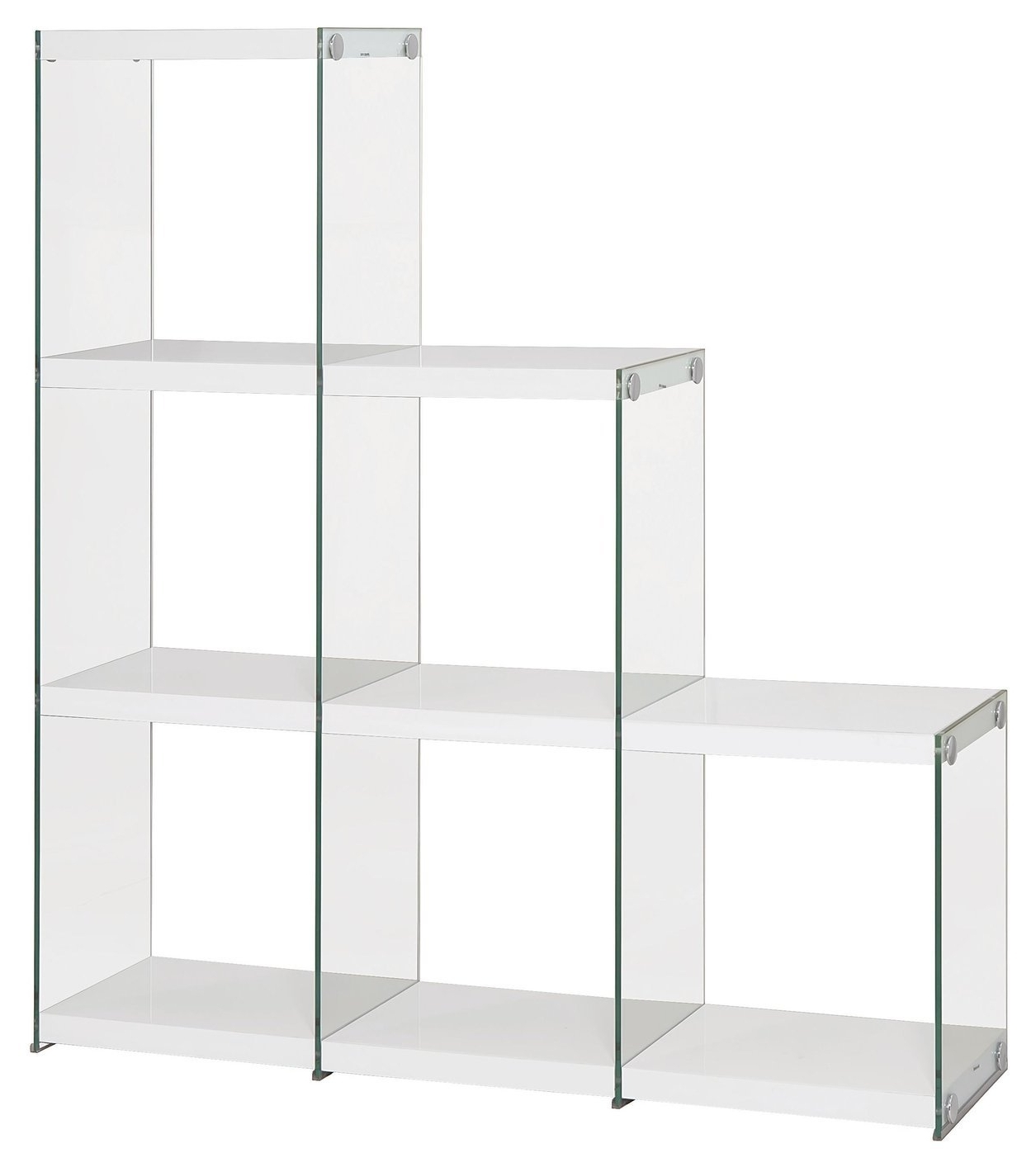Popular Glass Bookcases In White Glass Bookcase – Steal A Sofa Furniture Outlet Los Angeles Ca (View 11 of 15)