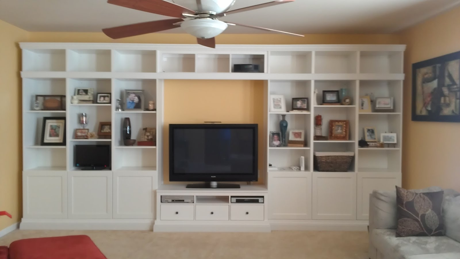 Popular Ikea Hack Wall Unit Best Home Decoration World Class, Ikea Hemnes Inside Hemnes Bookcases (View 13 of 15)