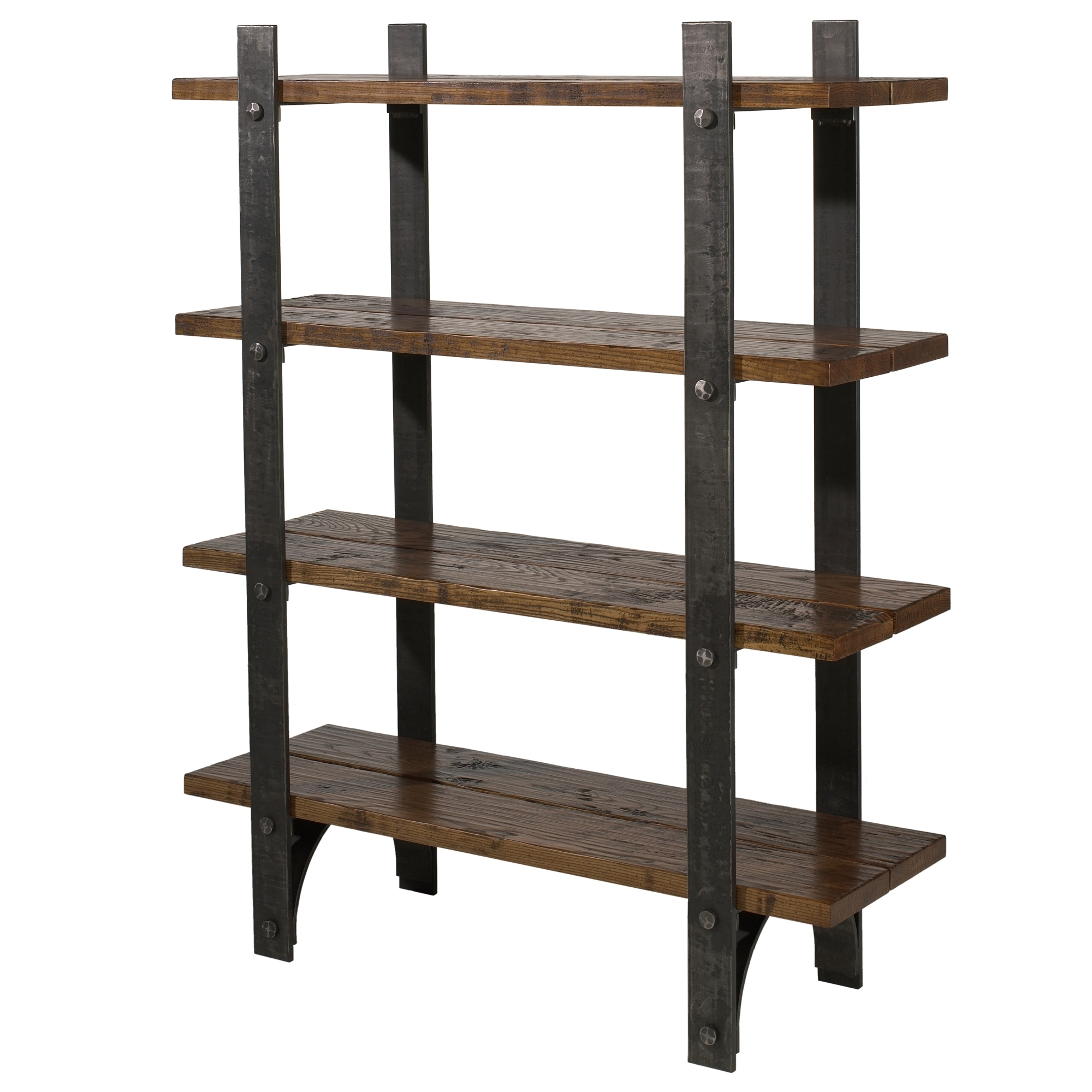 Popular Iron And Wood Bookcases Inside Bookcases Ideas: Wrought Iron Shelves Snd Furniture With Iron (View 3 of 15)