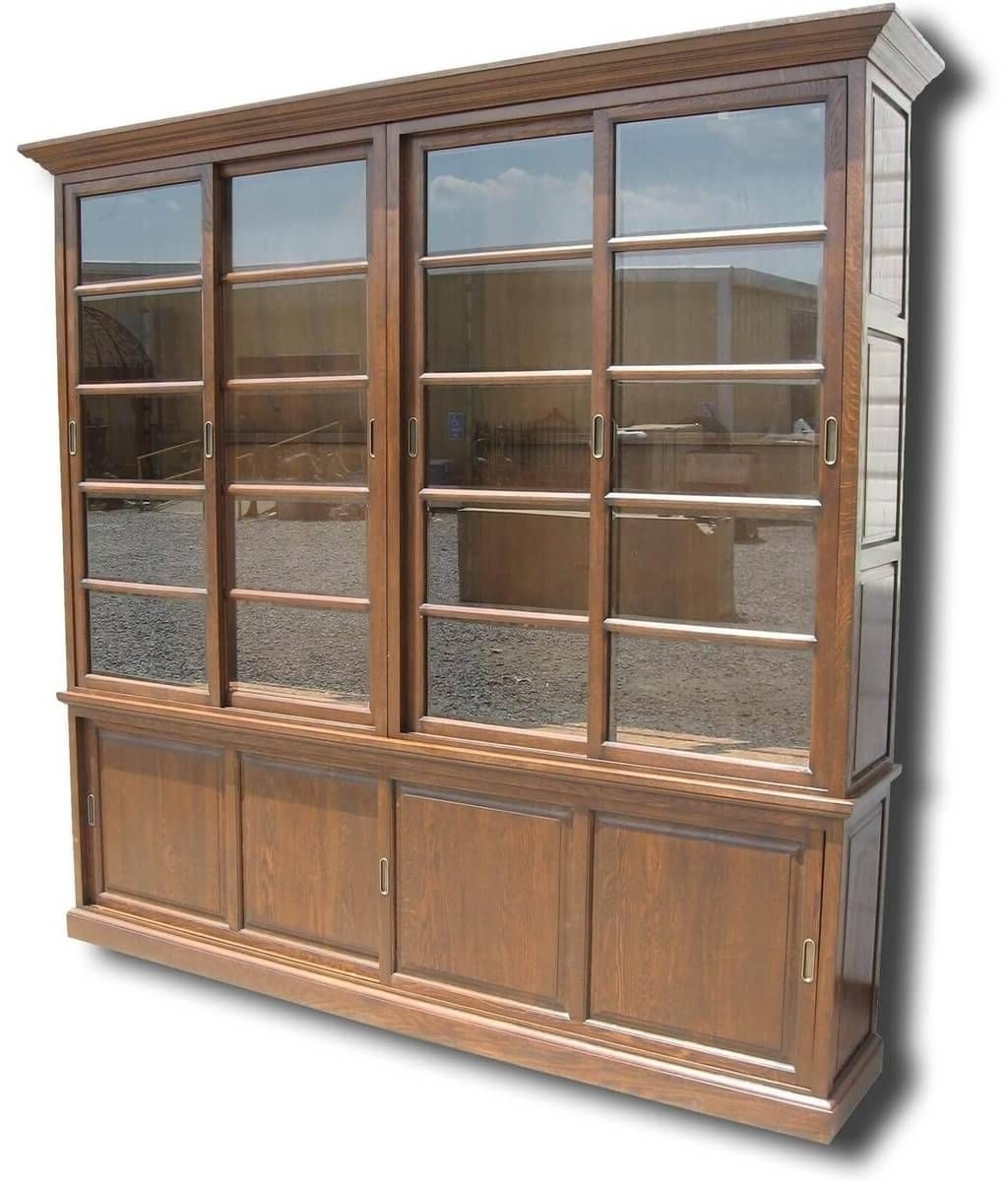 Popular Large Solid Wood Bookcases Regarding Furniture: 4 Shelf Solid Wood Bookcase With Open Front And Back (View 11 of 15)