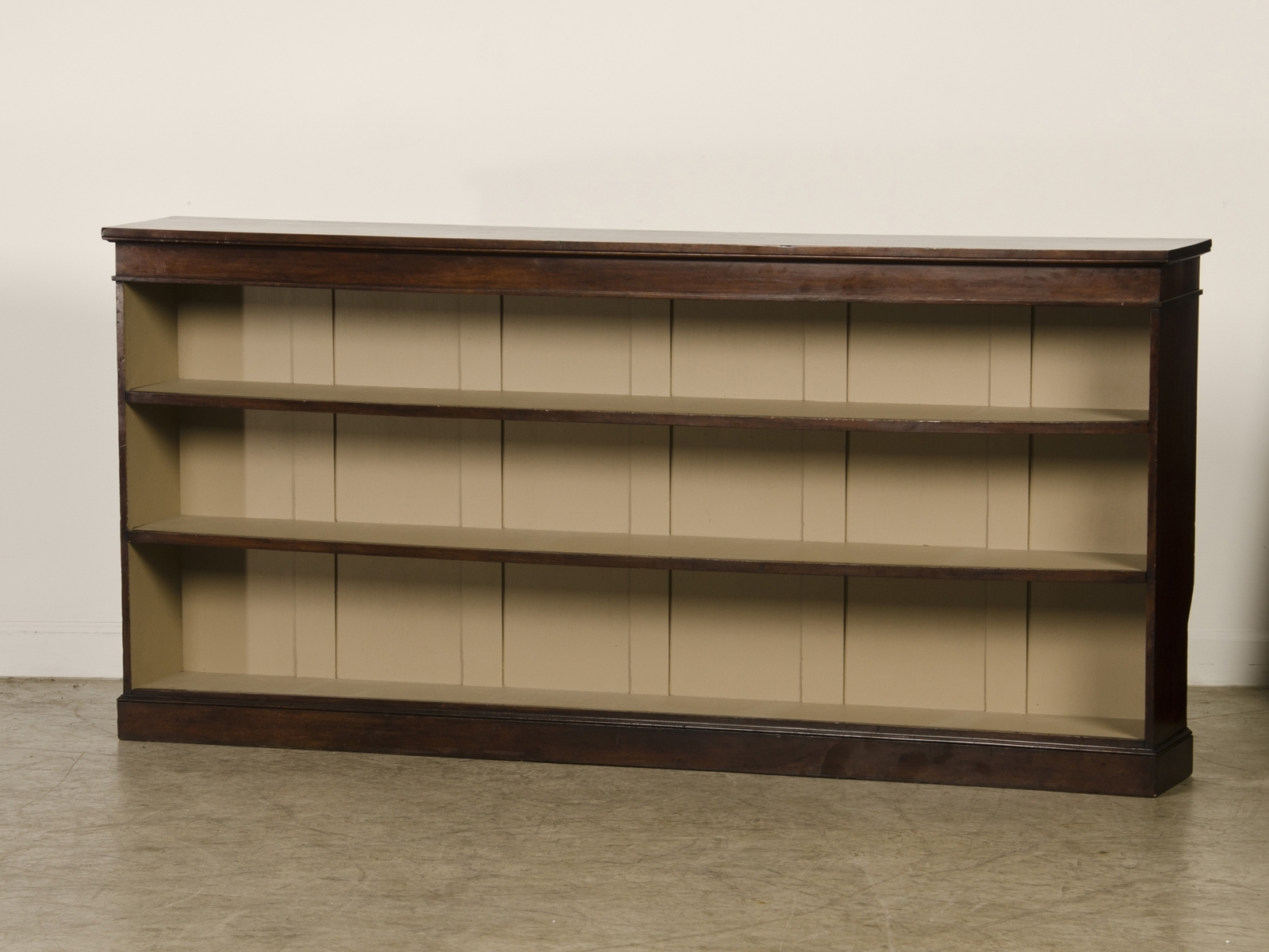 Popular Long Bookcases Pertaining To Inspirations: Cool Horizontal Bookcase For Storing Books And (View 6 of 15)
