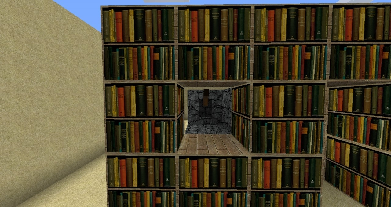 Popular Minecraft Bookcases Within Awesome Bookshelves Minecraft On With Hidden Bookshelf Door (View 12 of 15)