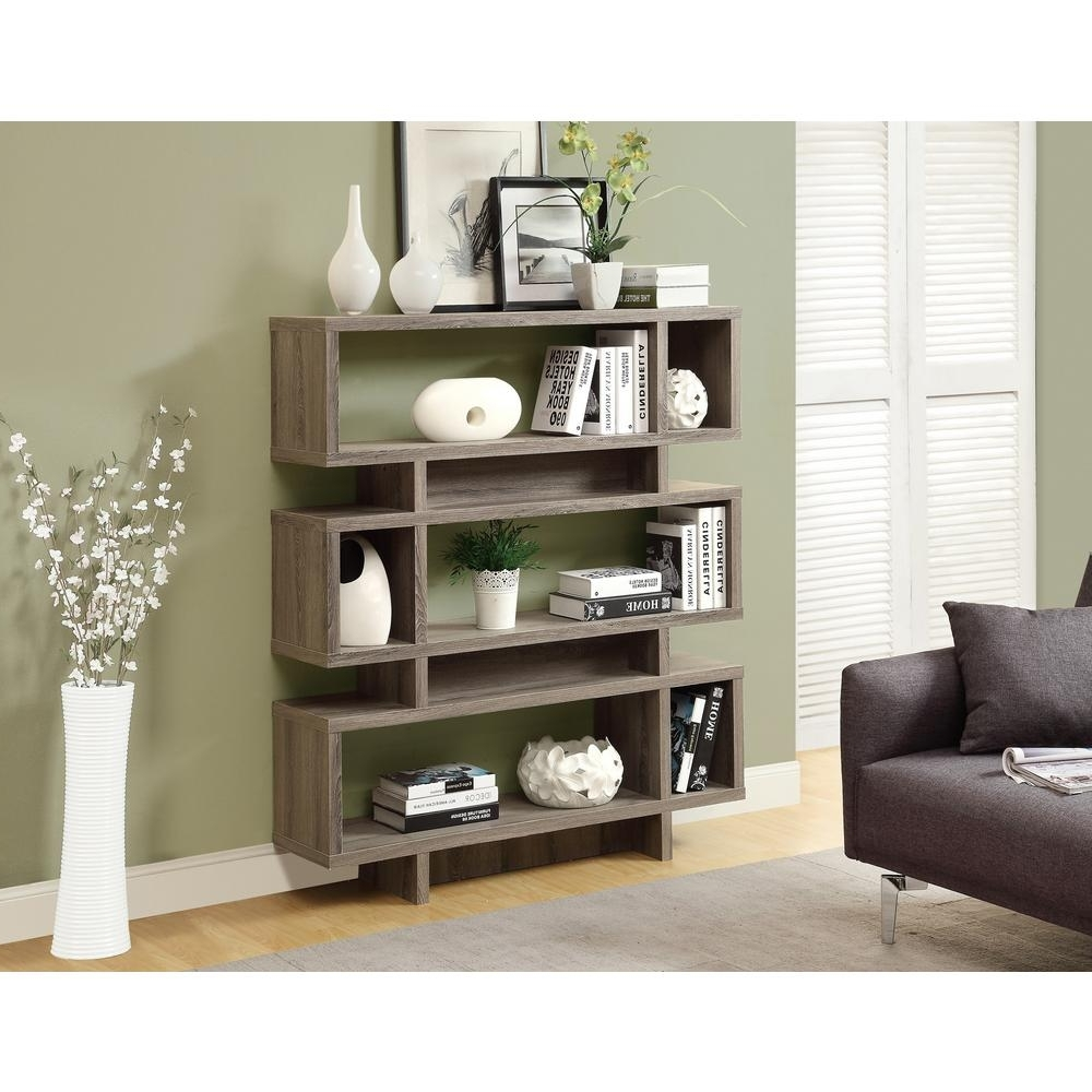 Popular Monarch Specialties Dark Taupe Open Bookcase I 3251 – The Home Depot Inside Monarch Bookcases (View 9 of 15)