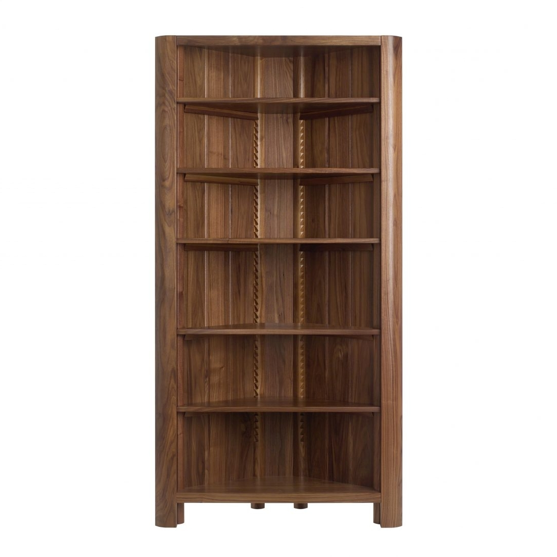 Popular Oak Corner Bookcase Unit Tall Units White With Smallwildon With Wildon Home Bookcases (View 5 of 15)