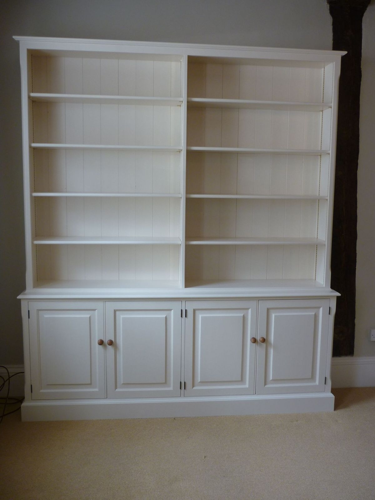Popular Of Painted Library Bookcase – Bookcases – Pine, Oak, Painted And In White Painted Bookcases (View 9 of 15)
