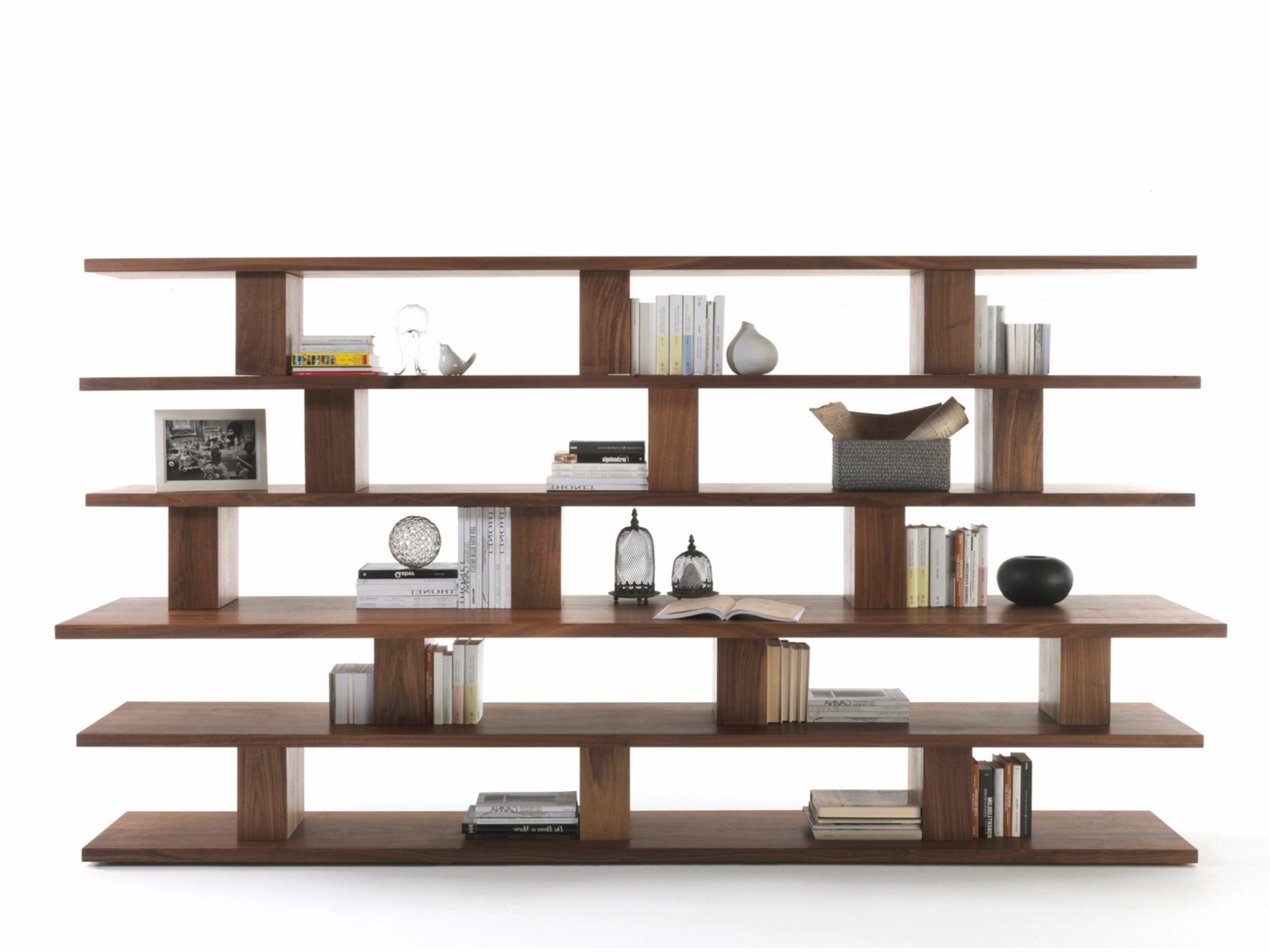 Popular Open Bookcases Pertaining To Cabinet & Storage Stylish Solid Wood Bookcase Unique Design 6 Open (View 12 of 15)
