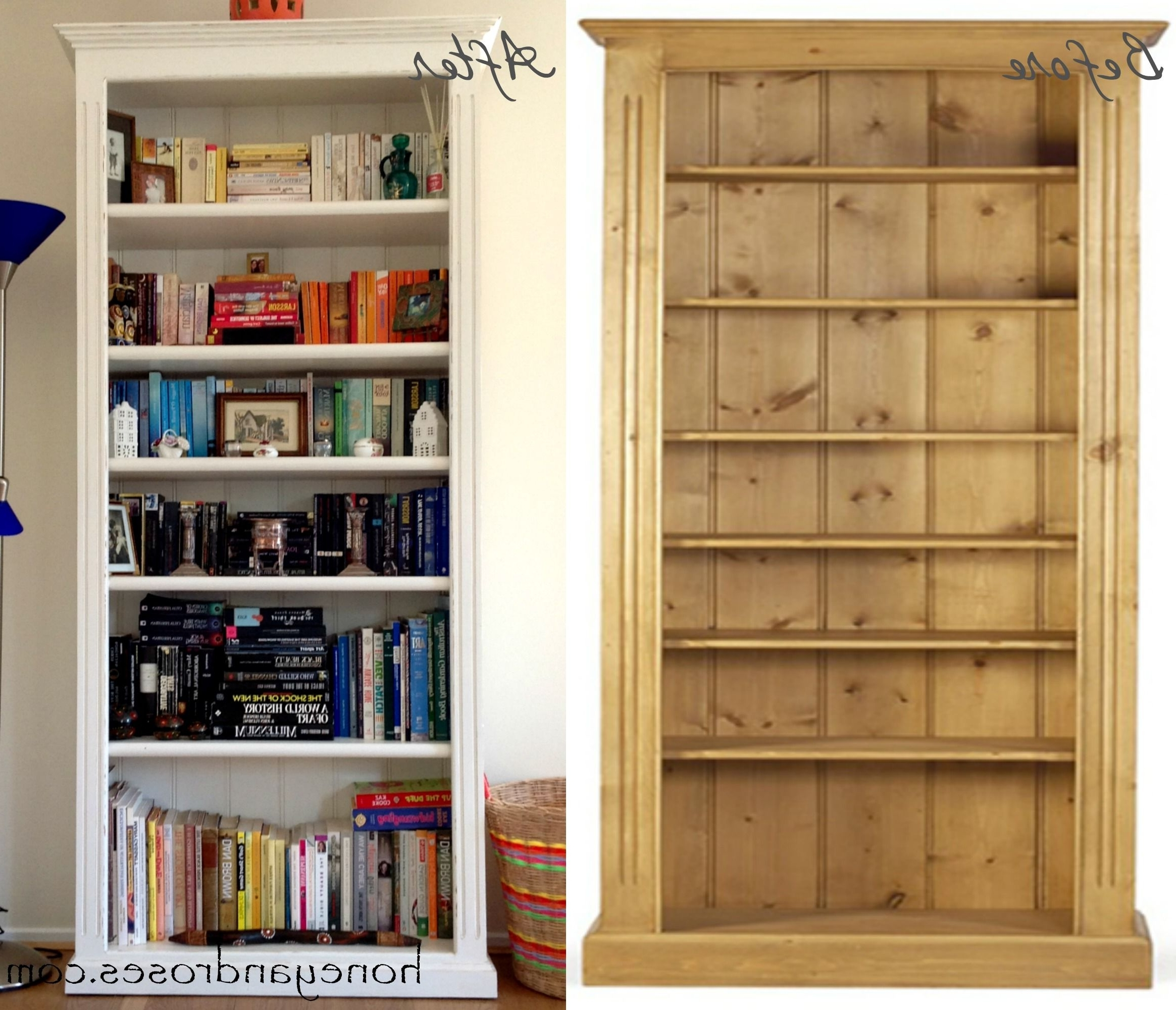 Popular Pine Bookcases Throughout How To Makeover A Pine Bookcase (View 13 of 15)
