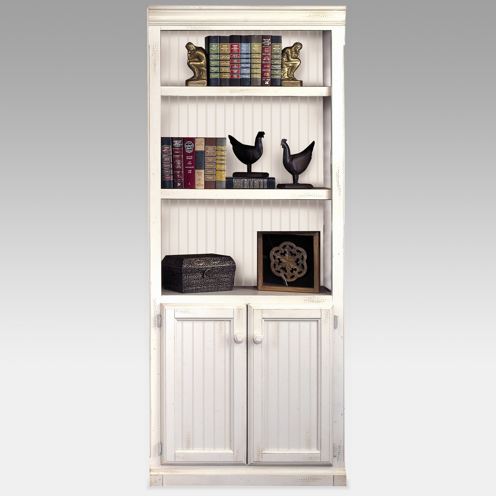 Featured Photo of White Bookcases With Cupboard