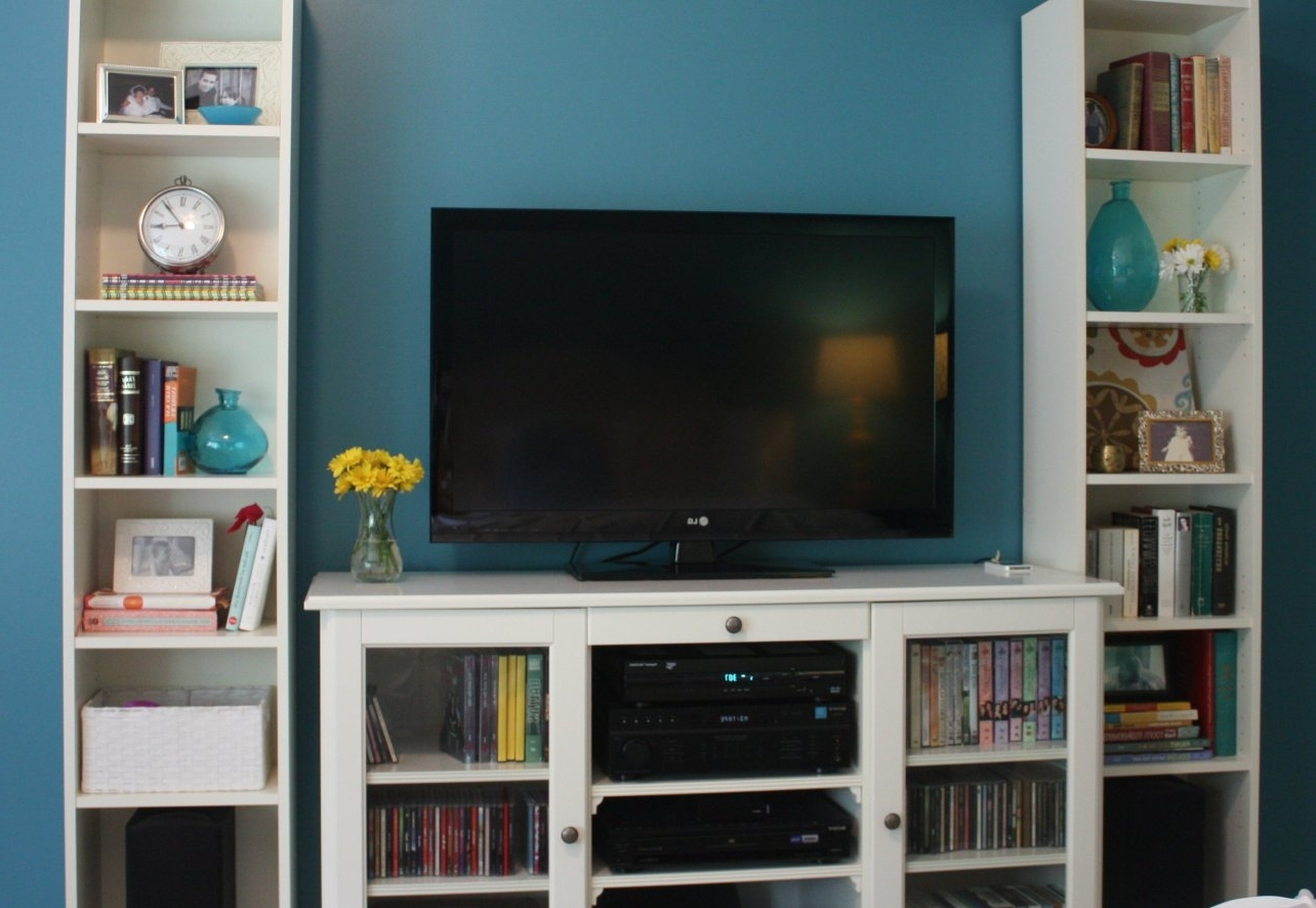 Popular Tv Bookshelves Unit In Desk : Wall Units Astonishing Bookcase With Tv Storage Awesome (View 10 of 15)