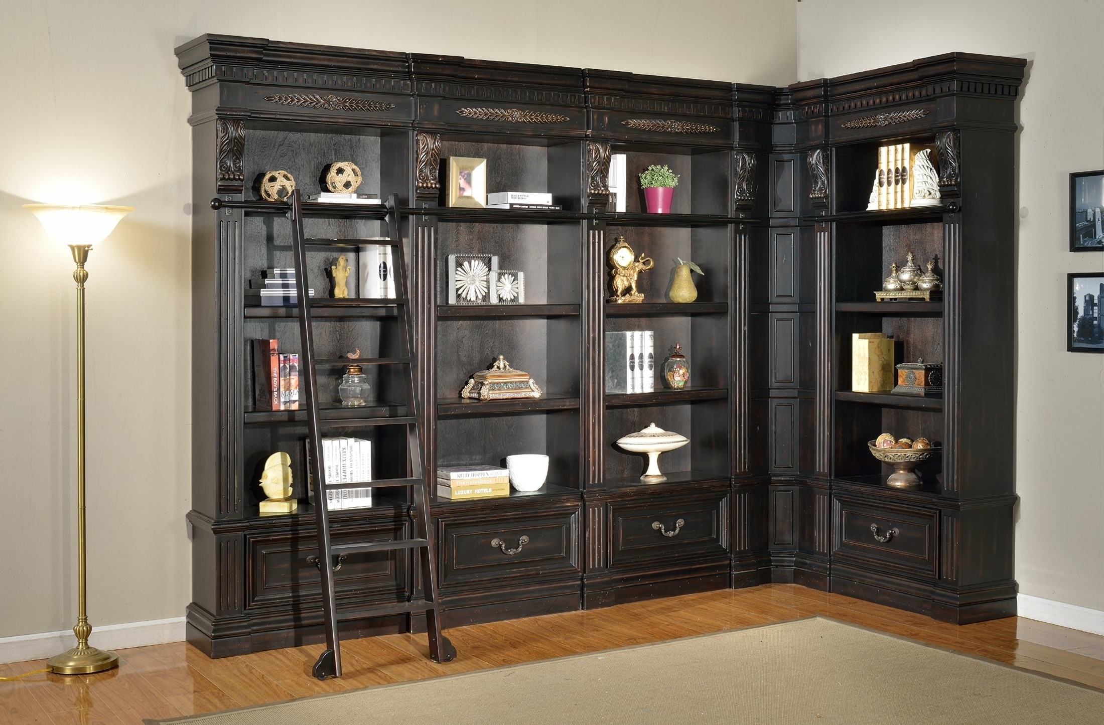 Popular White Corner Bookcase — Montserrat Home Design : When You Place An Pertaining To L Shaped Bookcases (View 15 of 15)