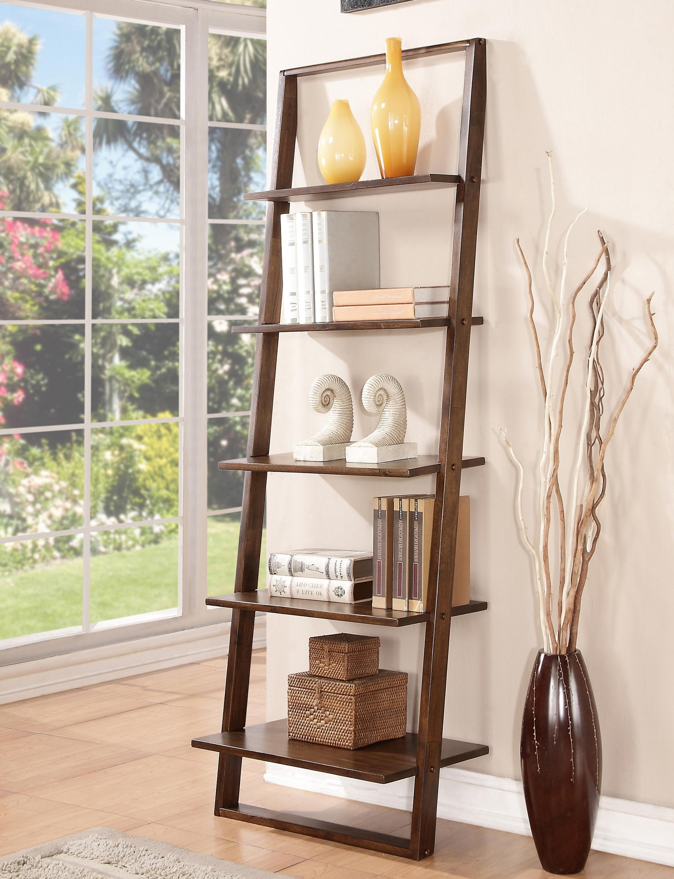 Pottery Barn Bookcases Inside Current Leaning Bookcase With 5 Shelvesriverside Furniture (View 8 of 15)