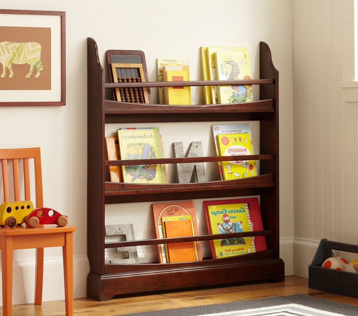Pottery Barn Bookcases Intended For Current Madison 3 Shelf Bookrack (View 6 of 15)