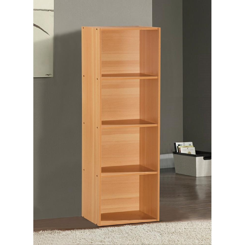 Preferred Beech Bookcases Within Hodedah 4 Shelf, 47 In (View 11 of 15)