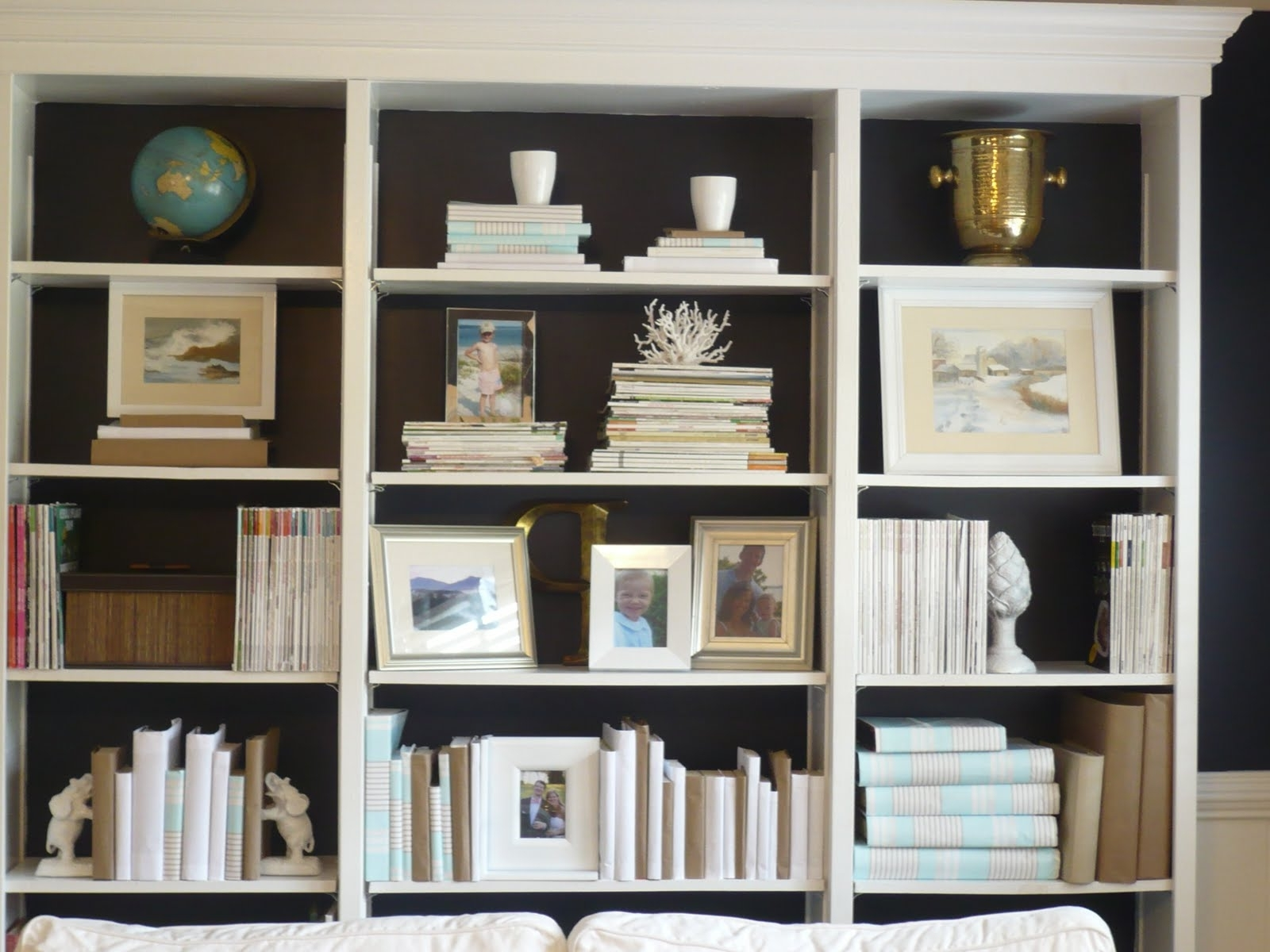 Preferred Best Cool Painted Bookshelves Color Chic Inspiration ~ Idolza With Regard To Painted Bookshelves (View 8 of 15)