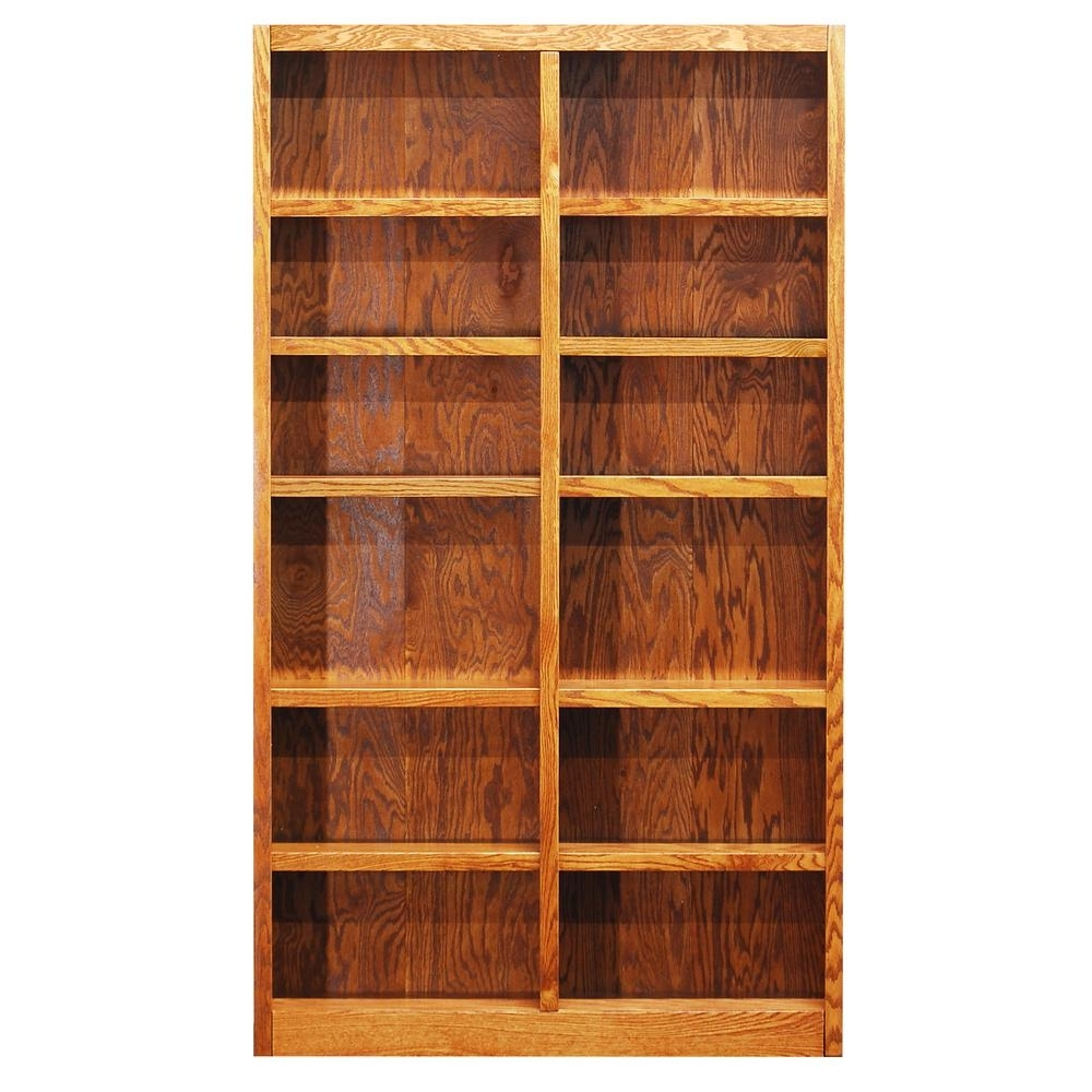 Preferred Concepts In Wood Midas Dry Oak Open Bookcase Mi4884 D – The Home Depot In Real Wood Bookcases (View 15 of 15)