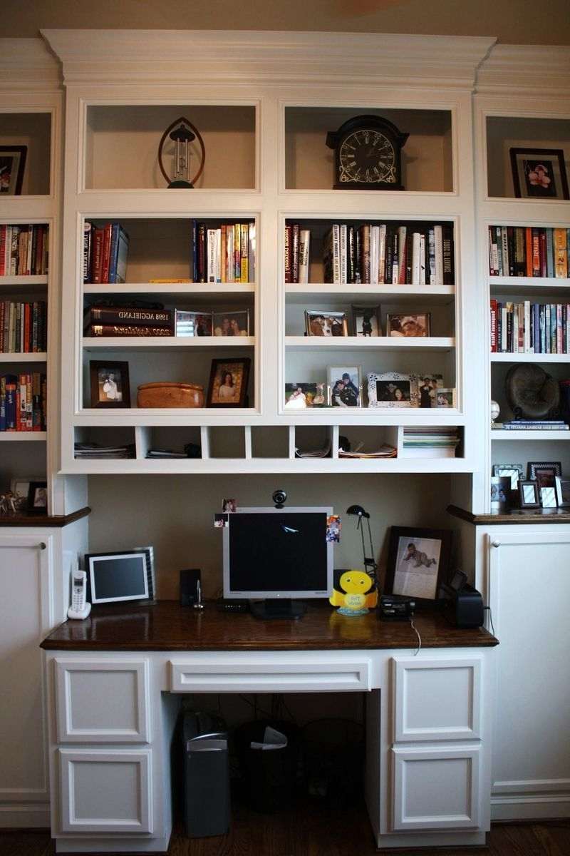 Preferred Custom Made Built In Desk & Bookcasescustom Cabinets & Trim Throughout Desk With Bookcases (View 13 of 15)