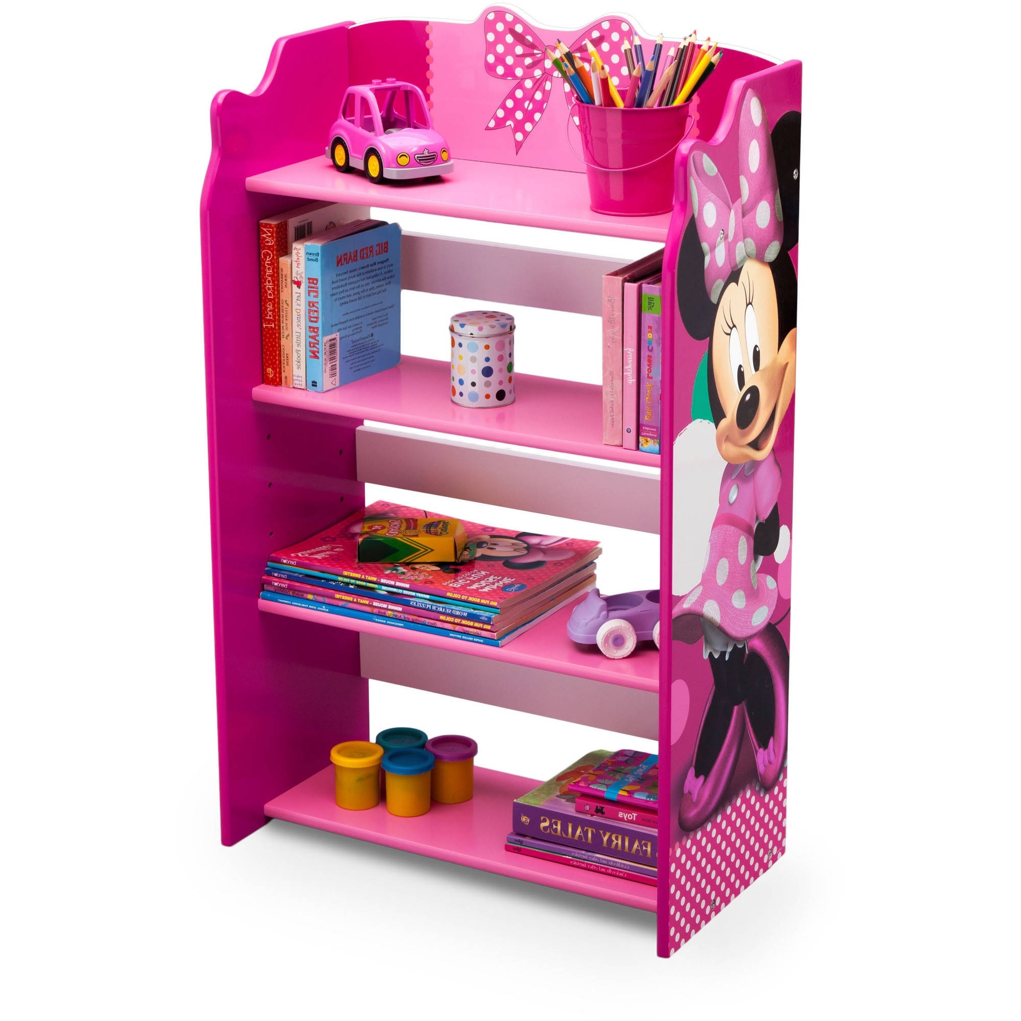 Preferred Disney Minnie Mouse Bookshelf – Walmart Pertaining To Pink Bookcases (View 12 of 15)