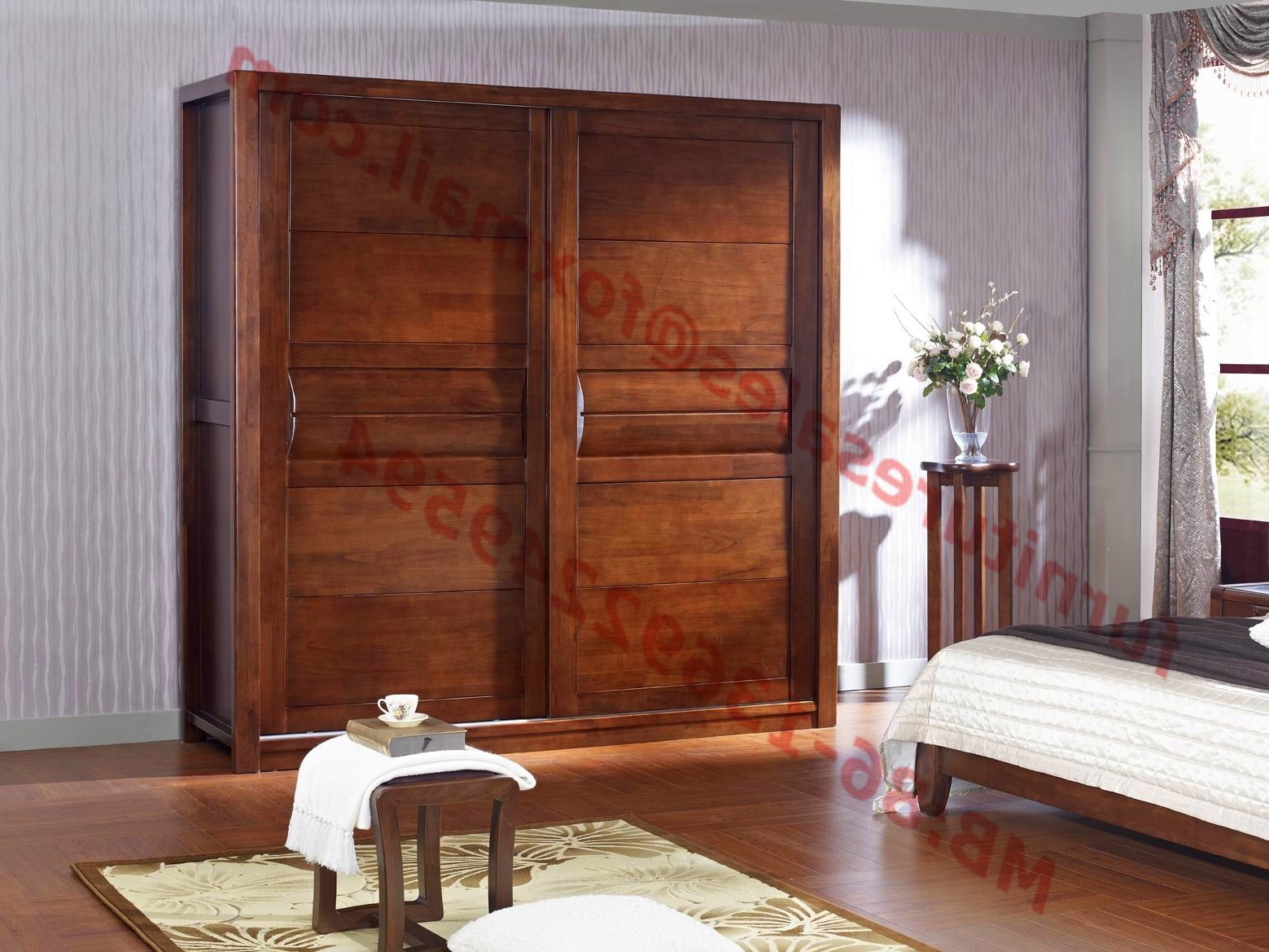 Preferred Doors Wardrobe In Solid Wood Bedroom Furniture Sets Regarding Solid Wood Fitted Wardrobes (View 5 of 15)