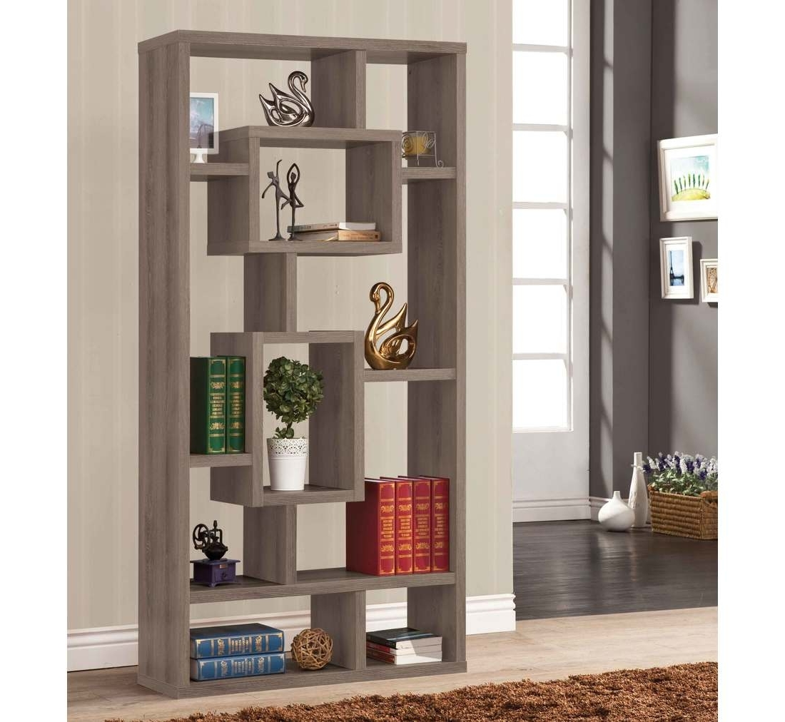 Preferred Hermosa Geometric Bookcase (View 7 of 15)