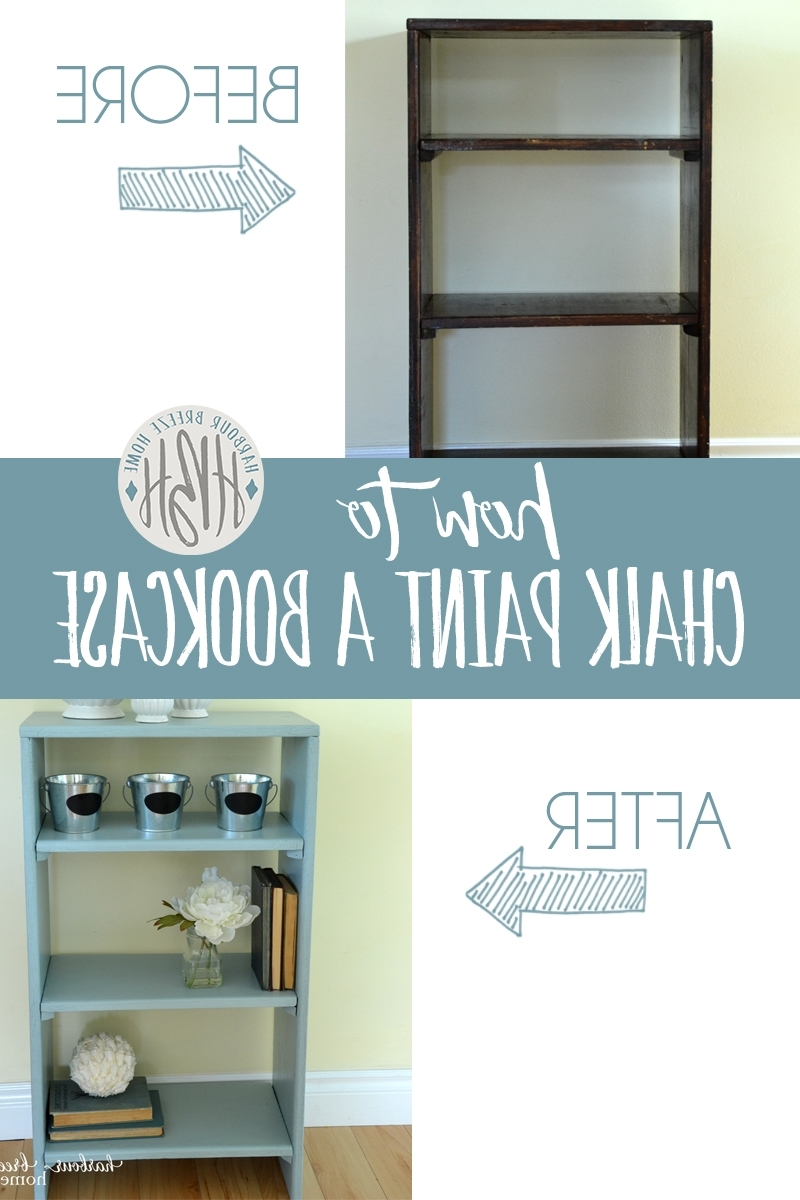 Preferred How To Paint A Bookcase With Cottage Paint (View 12 of 15)