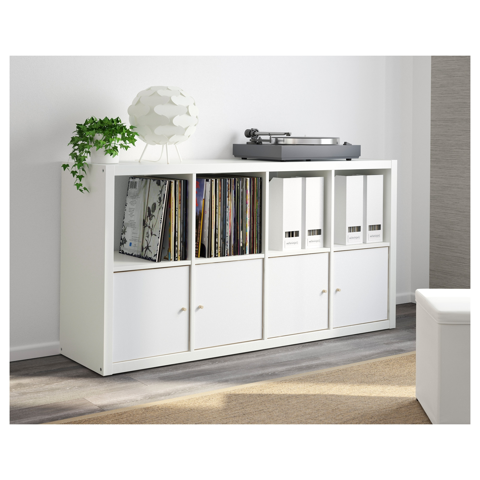 Preferred Ikea Kallax Bookcases In Kallax Shelving Unit White 77x147 Cm – Ikea (View 13 of 15)