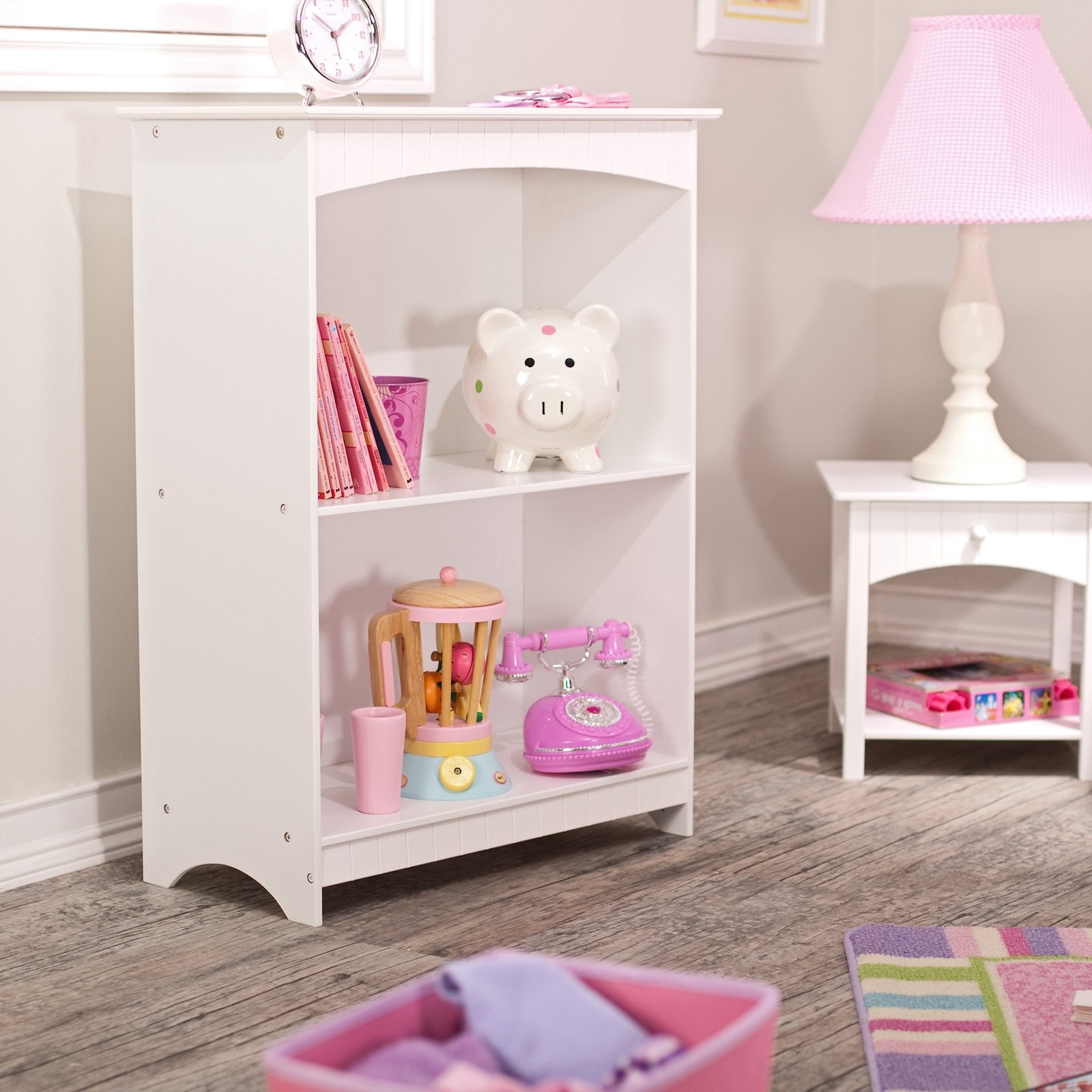 Preferred Kidkraft Bookcases Inside Kidkraft Nantucket 2 – Shelf Bookcase – White –  (View 12 of 15)