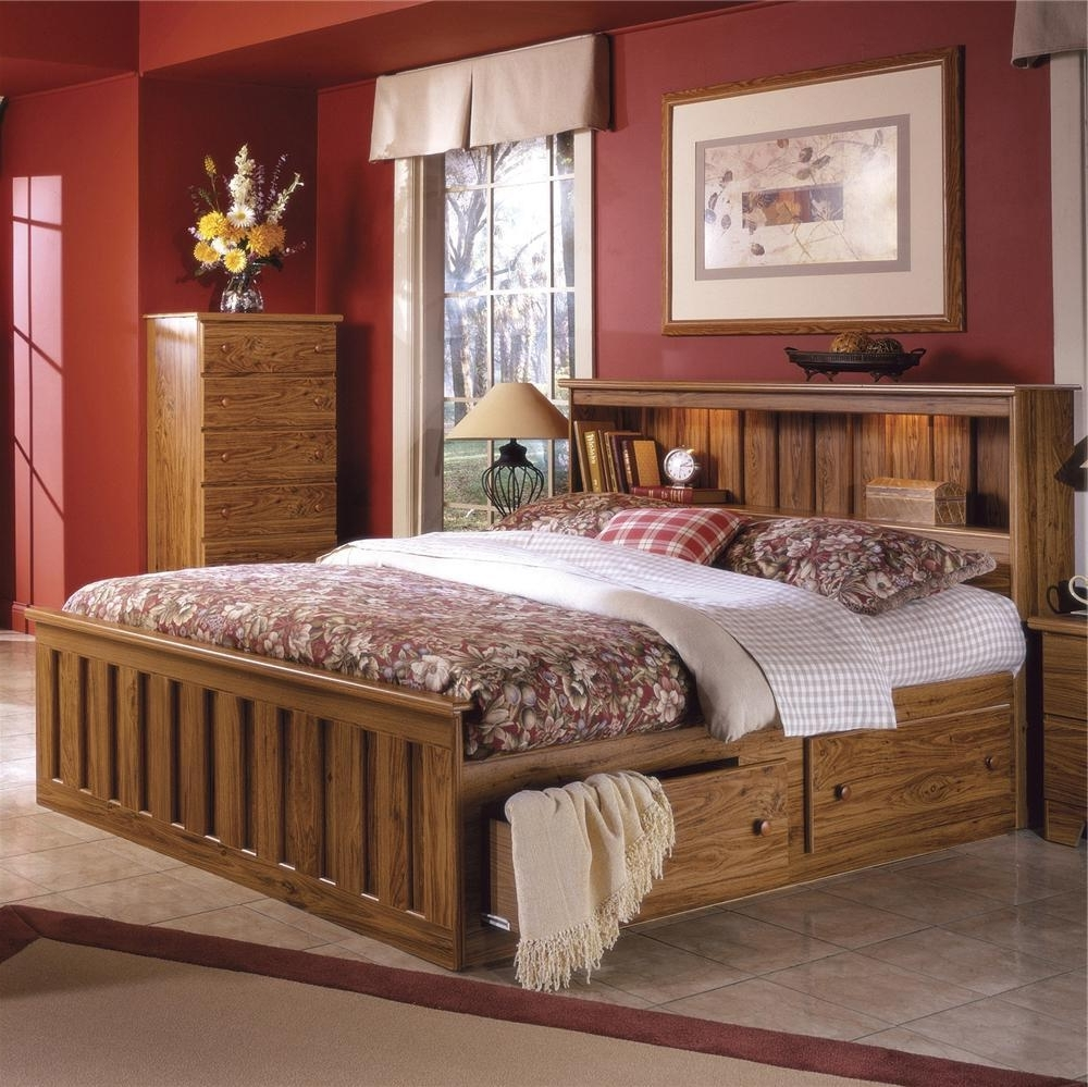 Preferred King Size Bookcases Headboard Within Bedroom: Organize Your Bedroom Decor With Bookcase Headboard (View 10 of 15)