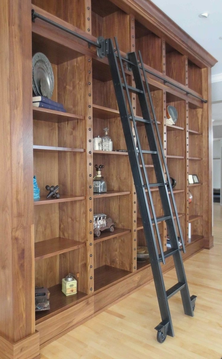 Preferred Library Ladder Intended For Custom Steel Rolling Library Ladderandrew Stansell Design (View 1 of 15)