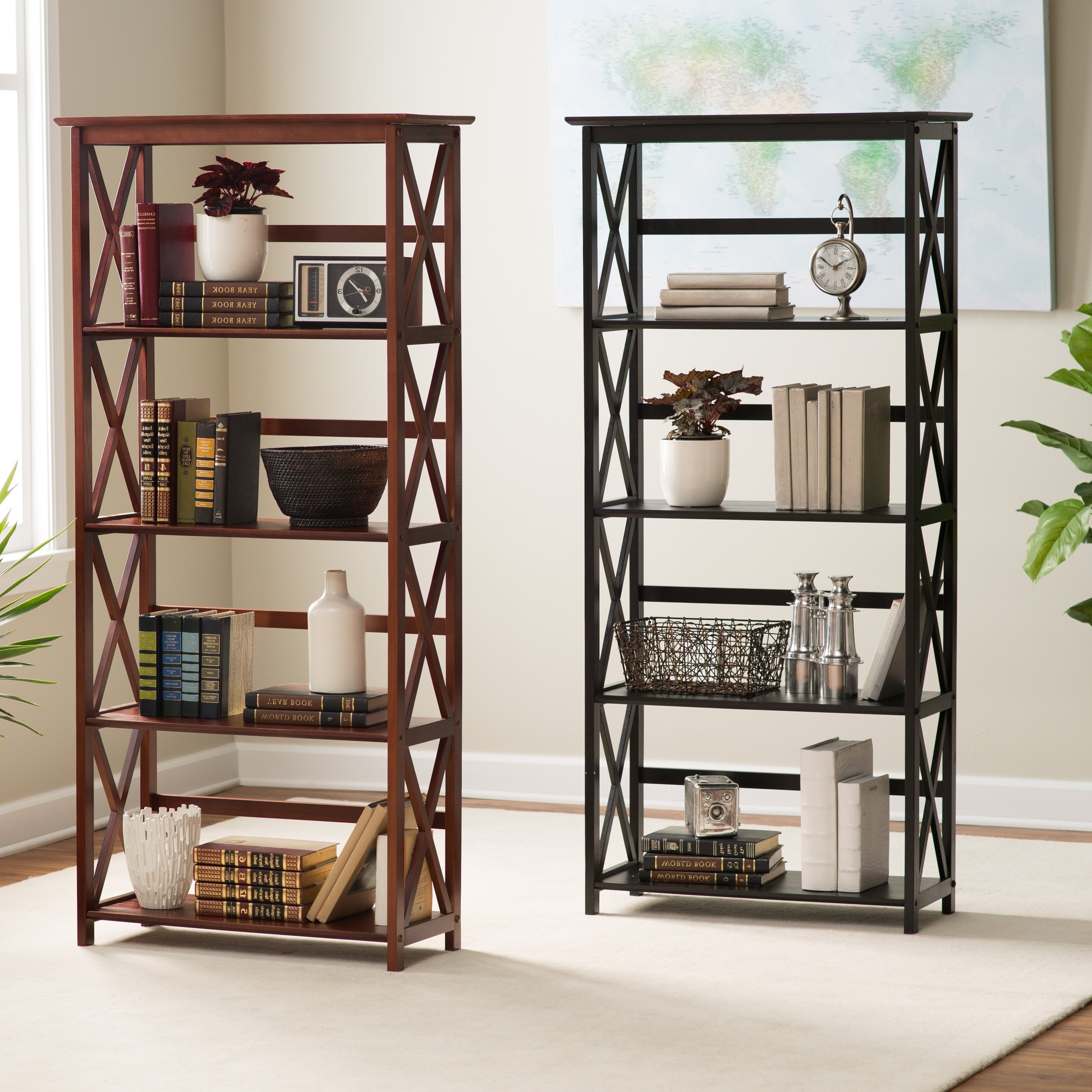 Preferred Open Bookcases With Montego 5 Tier Bookcase (View 5 of 15)