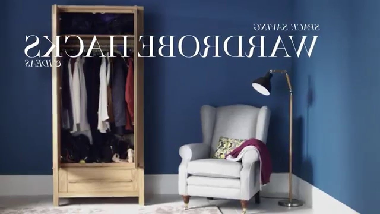 Preferred Space Saving Wardrobes With Regard To M&s Home: Space Saving Wardrobe Hacks & Ideas – Youtube (View 7 of 15)