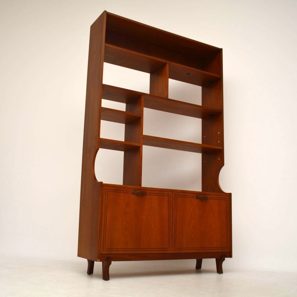 Preferred Teak Bookcases Within Teak Retro Bookcase / Cabinet / Room Divider Vintage 1960's (View 15 of 15)