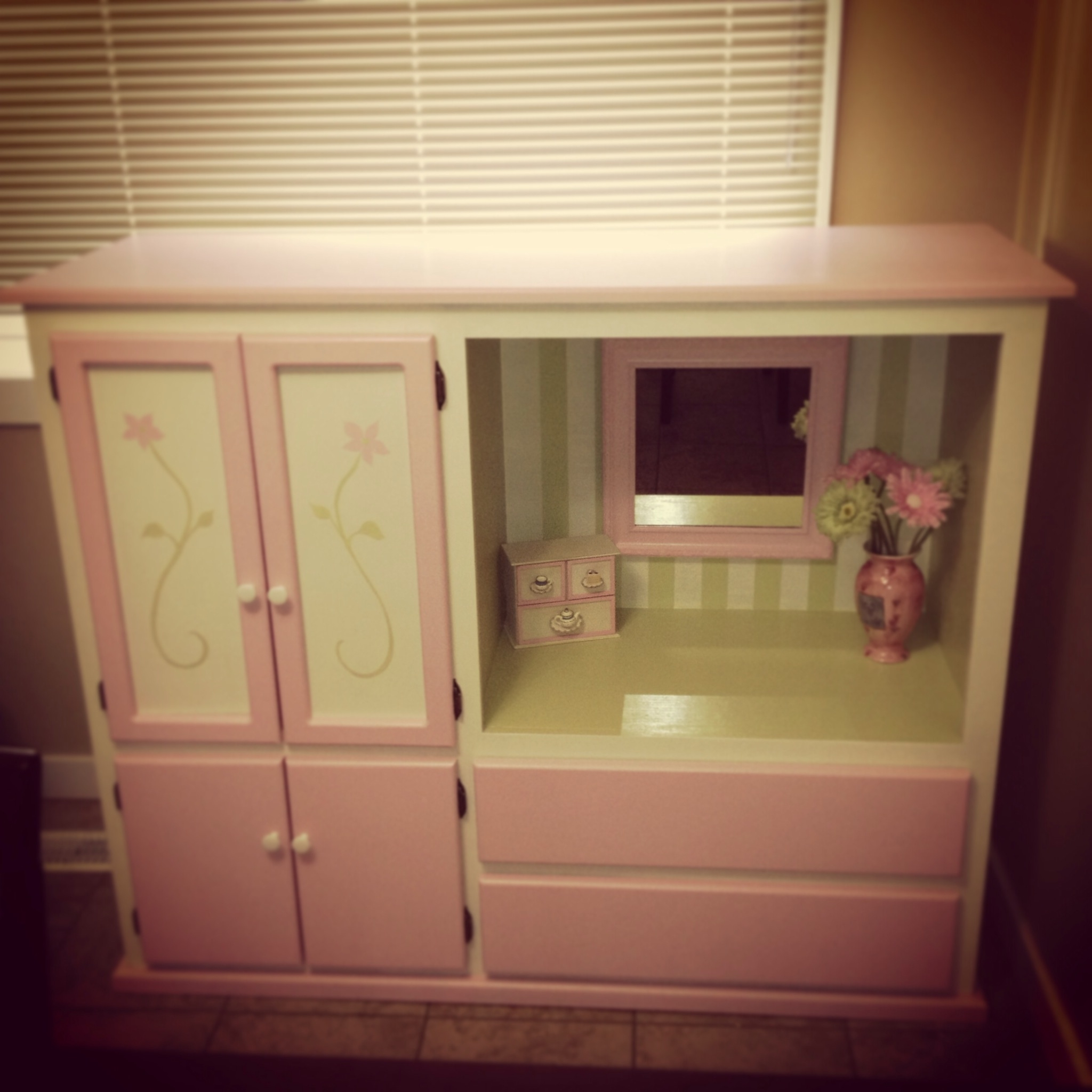 Preferred Up Cycled Tv Cabinet Into Children's Vanity/wardrobe (View 13 of 15)