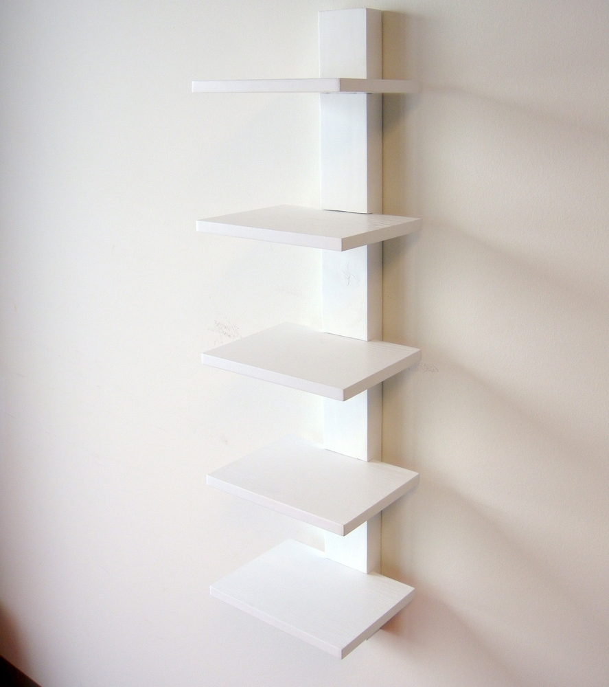 Proman Products Spine Wall Book Shelves In White – Beyond Stores Pertaining To Most Current Spine Bookcases (View 8 of 15)