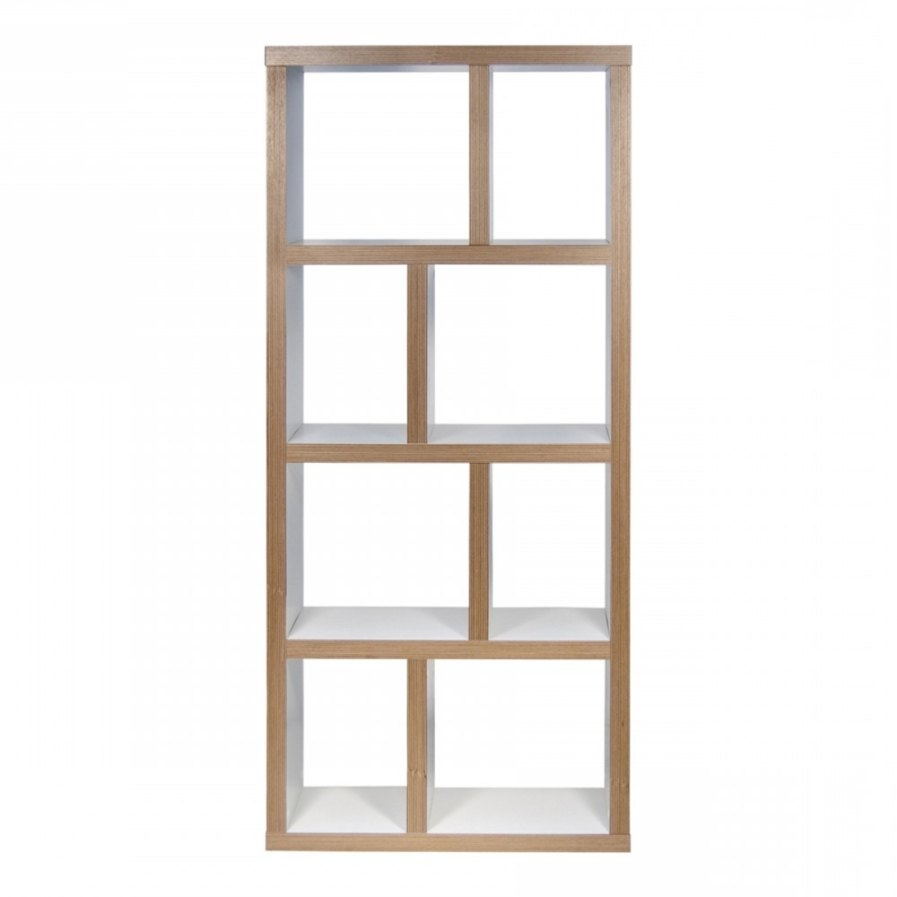 Pure White / Plywood, Tema Within Trendy Very Narrow Shelving Unit (View 12 of 15)
