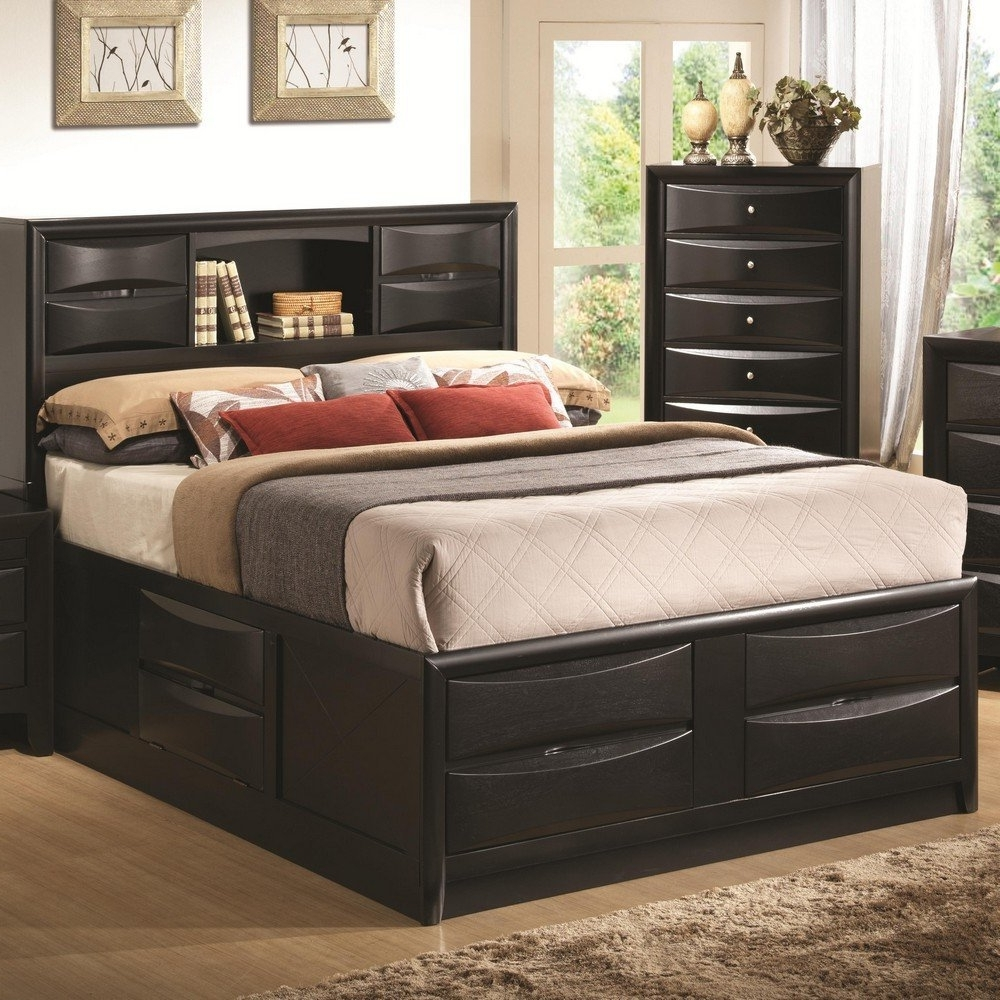 Queen Size Bookcases Headboard With Trendy Amazon: Coaster Queen Bed Headboard B1 Black: Kitchen & Dining (Gallery 1 of 15)