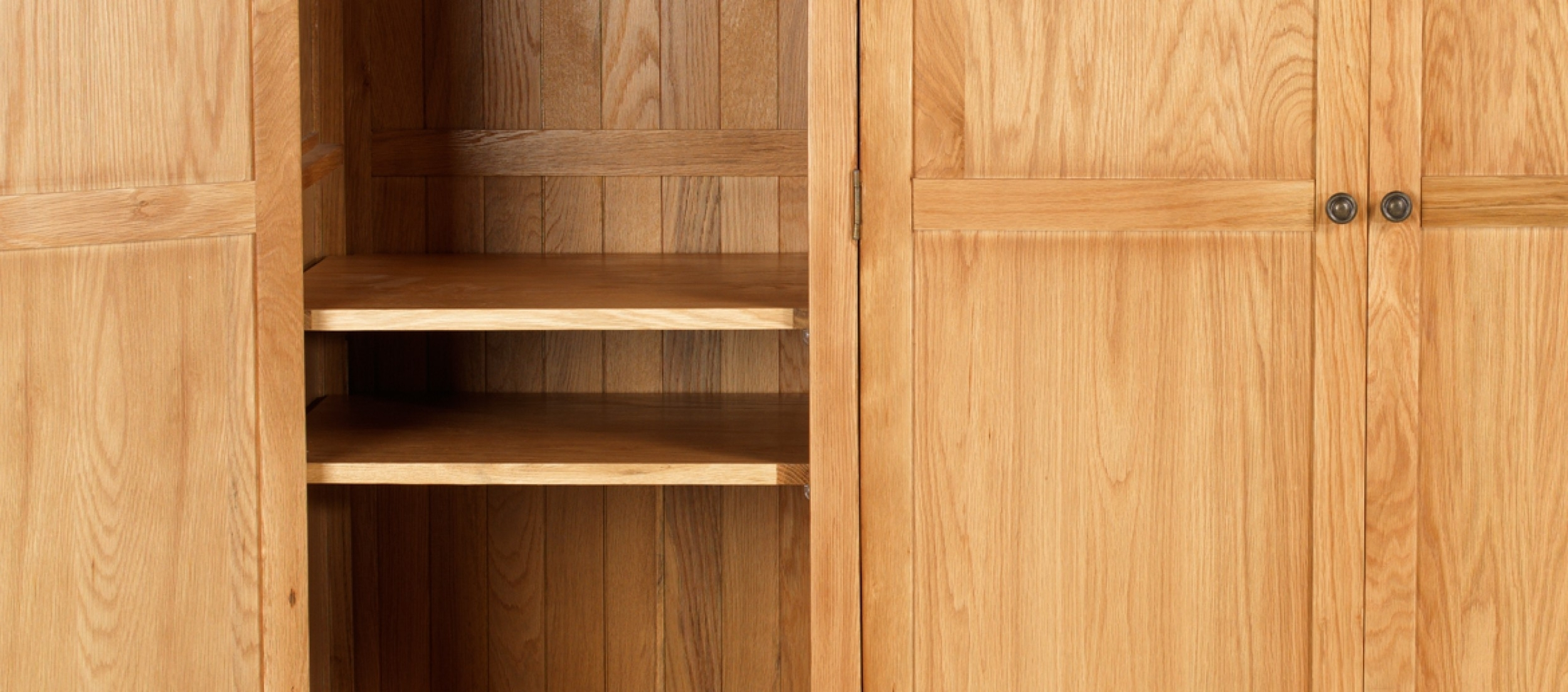 Quercus Living In Oak Wardrobes With Drawers And Shelves (View 12 of 15)