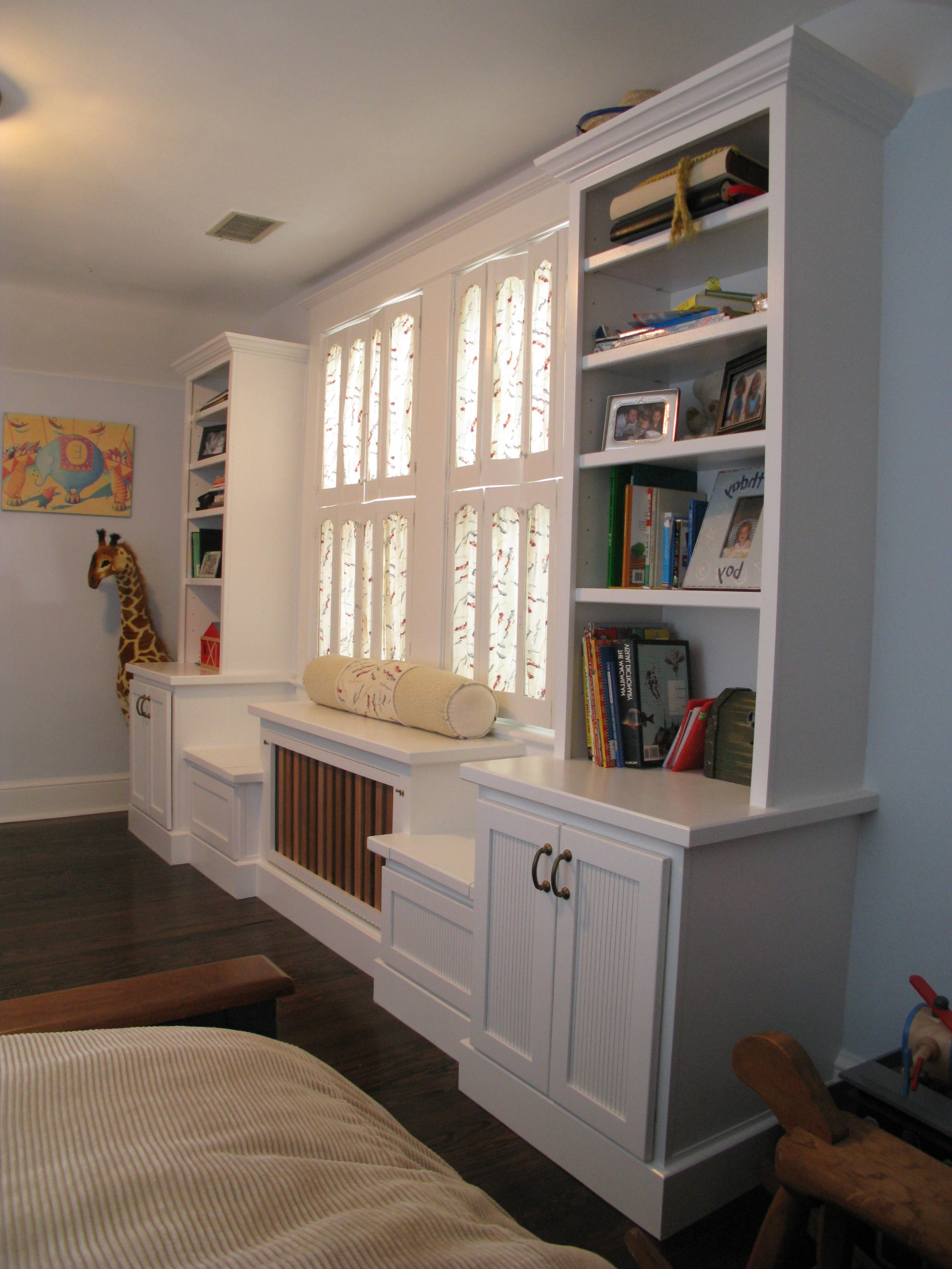 Radiator Bookcases Cabinets In Widely Used Custom Home Renovations Wasington Dc Archive – Four Brothers Llc (View 9 of 15)