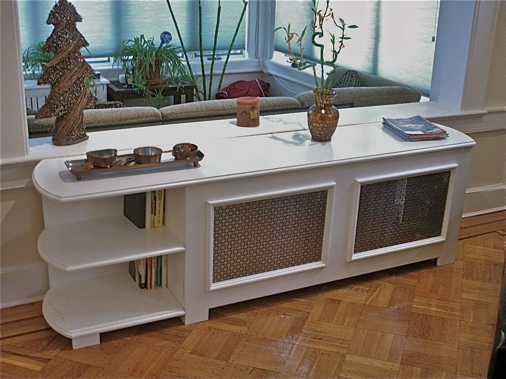 Radiator Cabinet Bookcases Within Latest Custom Radiator Cover With Bookcasehammer Time Studio's (View 3 of 15)