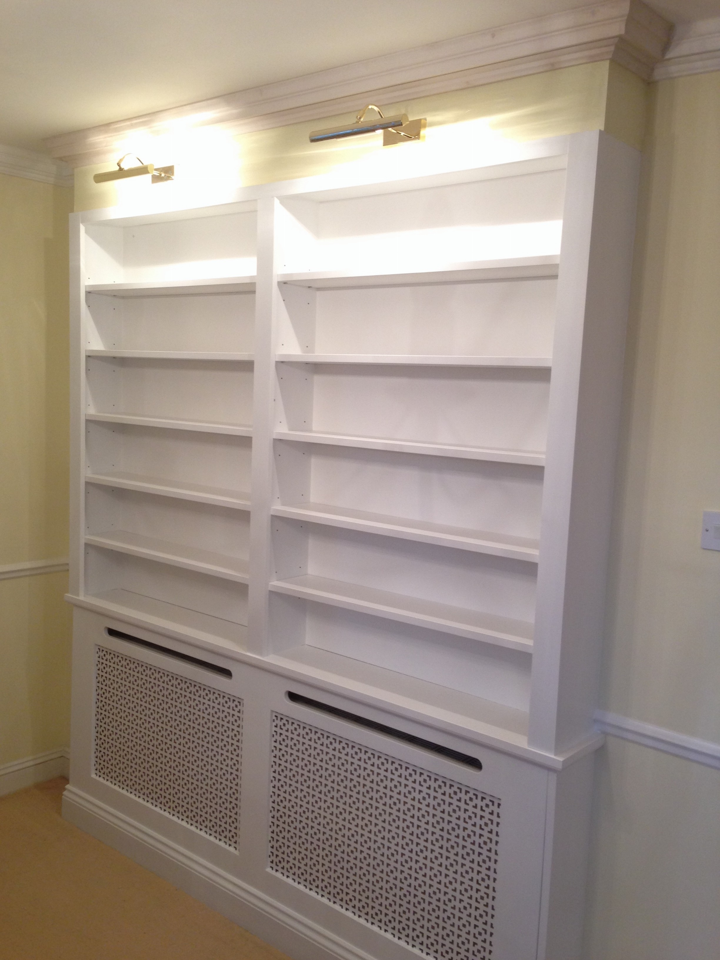 Radiator Cover And Bookcases Pertaining To Famous Harrow Carpenters Lj Refurbishments – Bookcases And Cupboards (View 8 of 15)