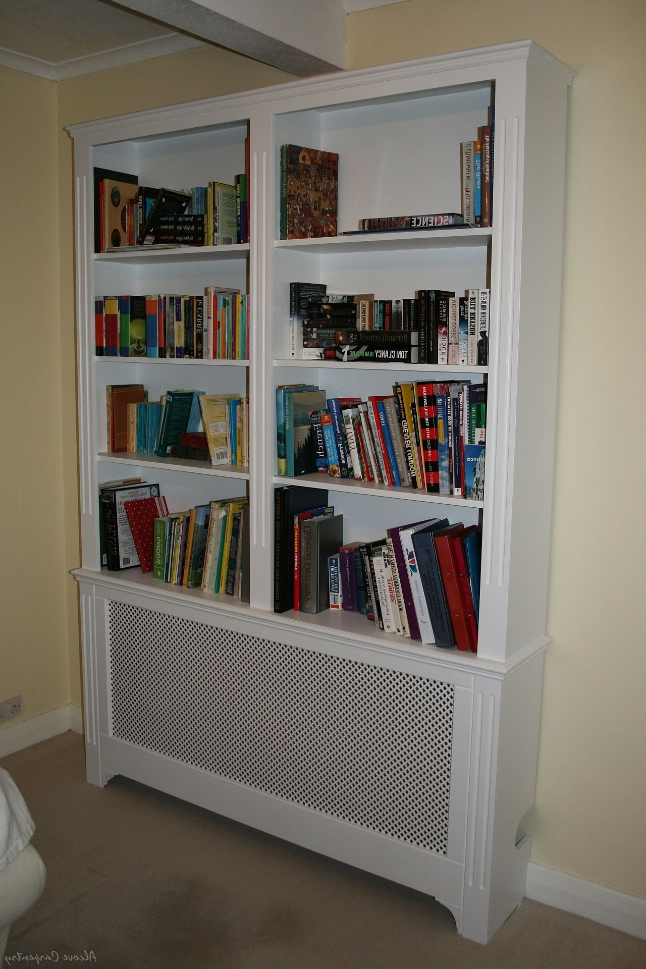 Radiator Cover Shelf Unit For Preferred 31 Model Radiator Bookcases Uk (View 4 of 15)